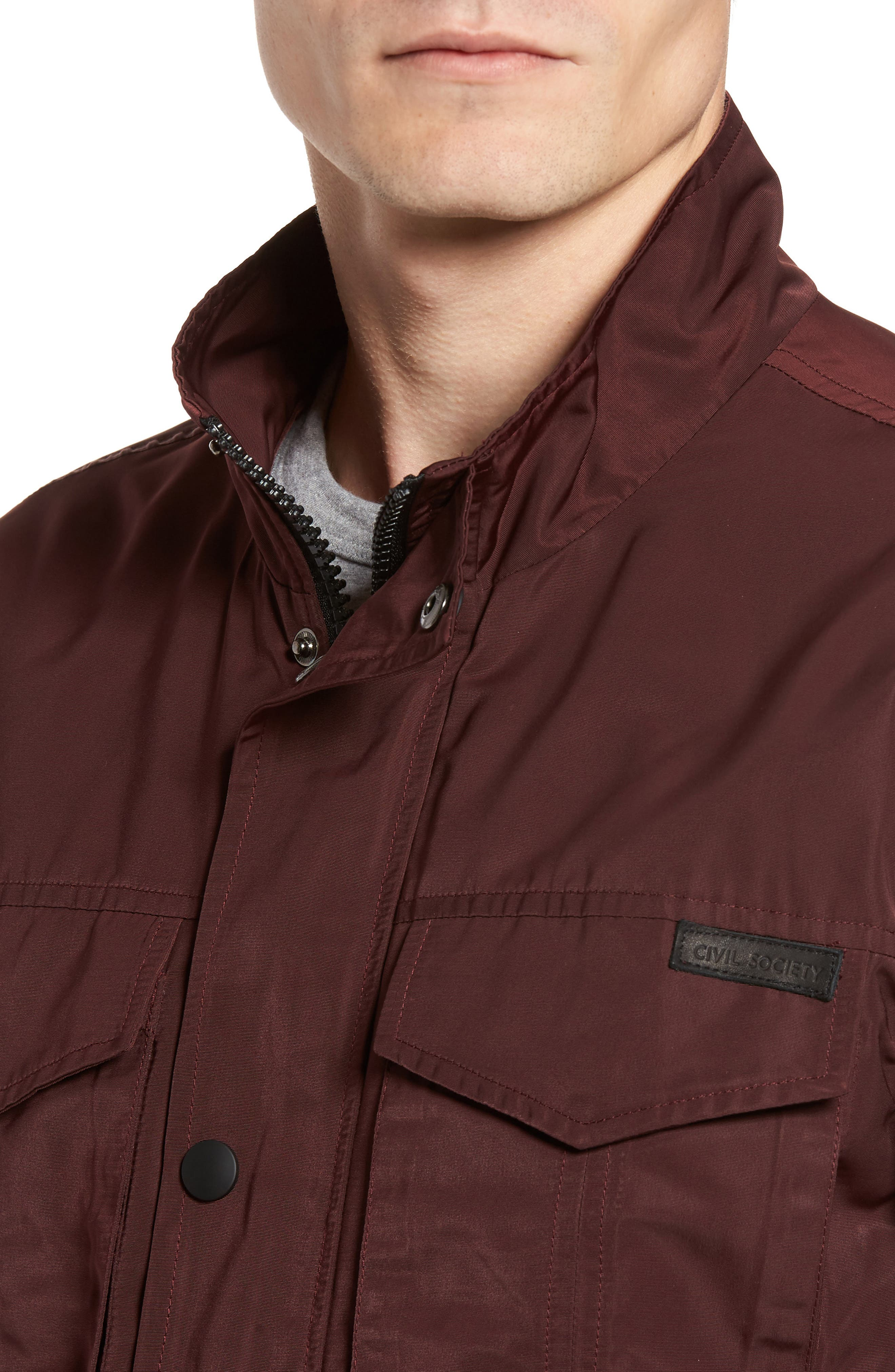 Dougie Waterproof Jacket,                             Alternate thumbnail 4, color,                             Mulberry