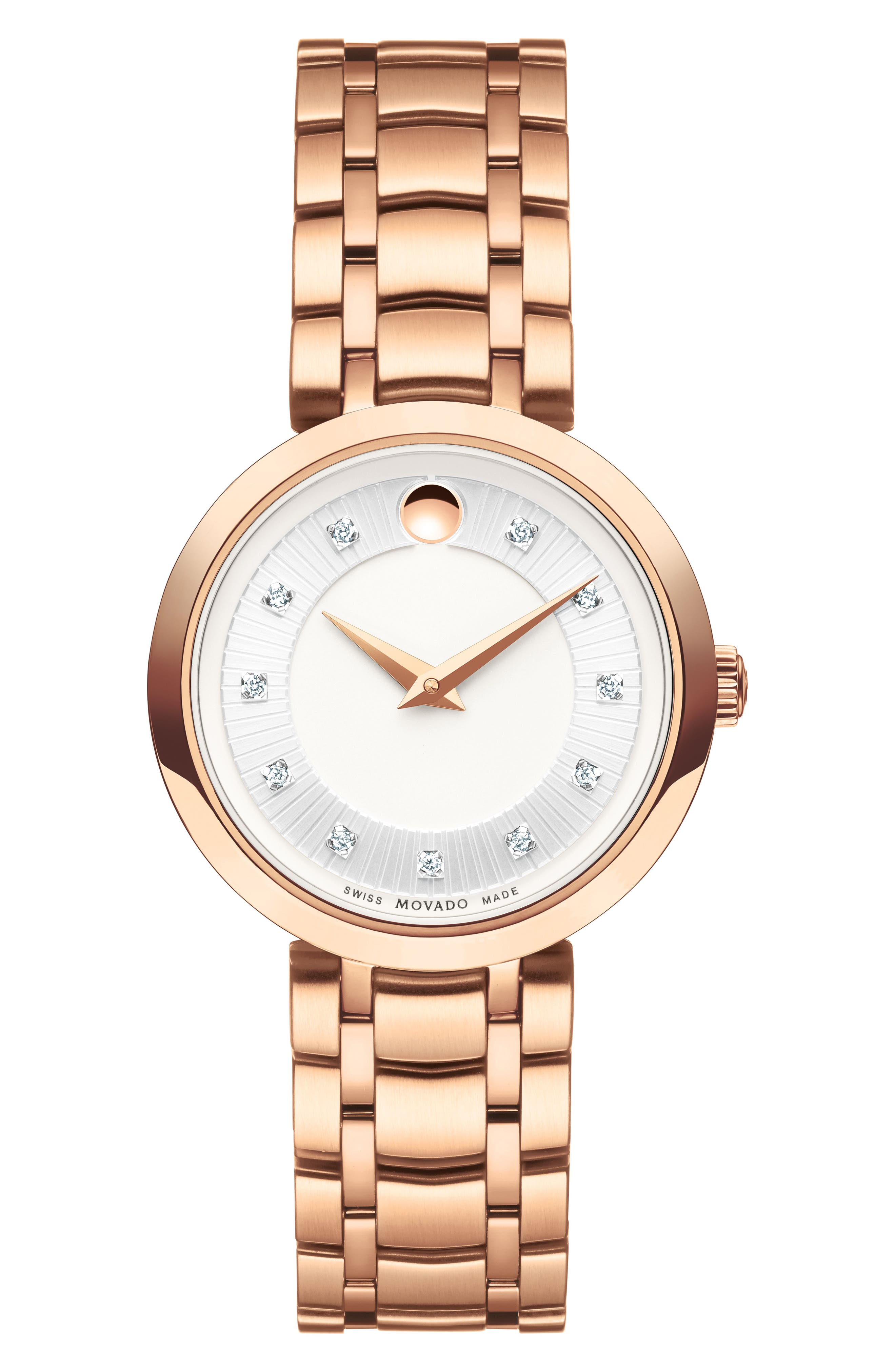 Main Image - Movado 1881 Quartz Diamond Bracelet Watch, 28mm