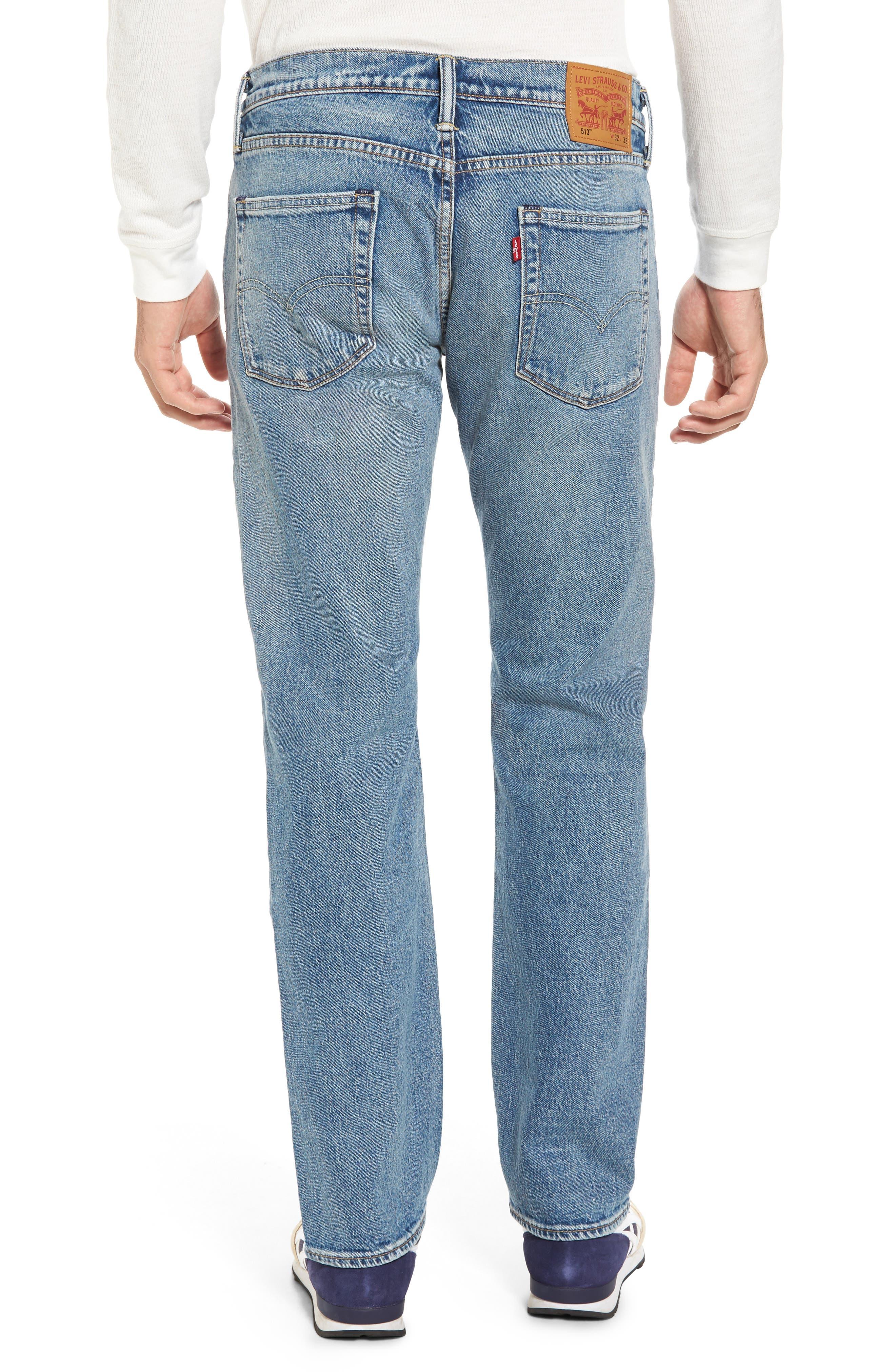 Alternate Image 2  - Levi's® 513™ Slim Straight Leg Jeans (Light Blue Rolf)