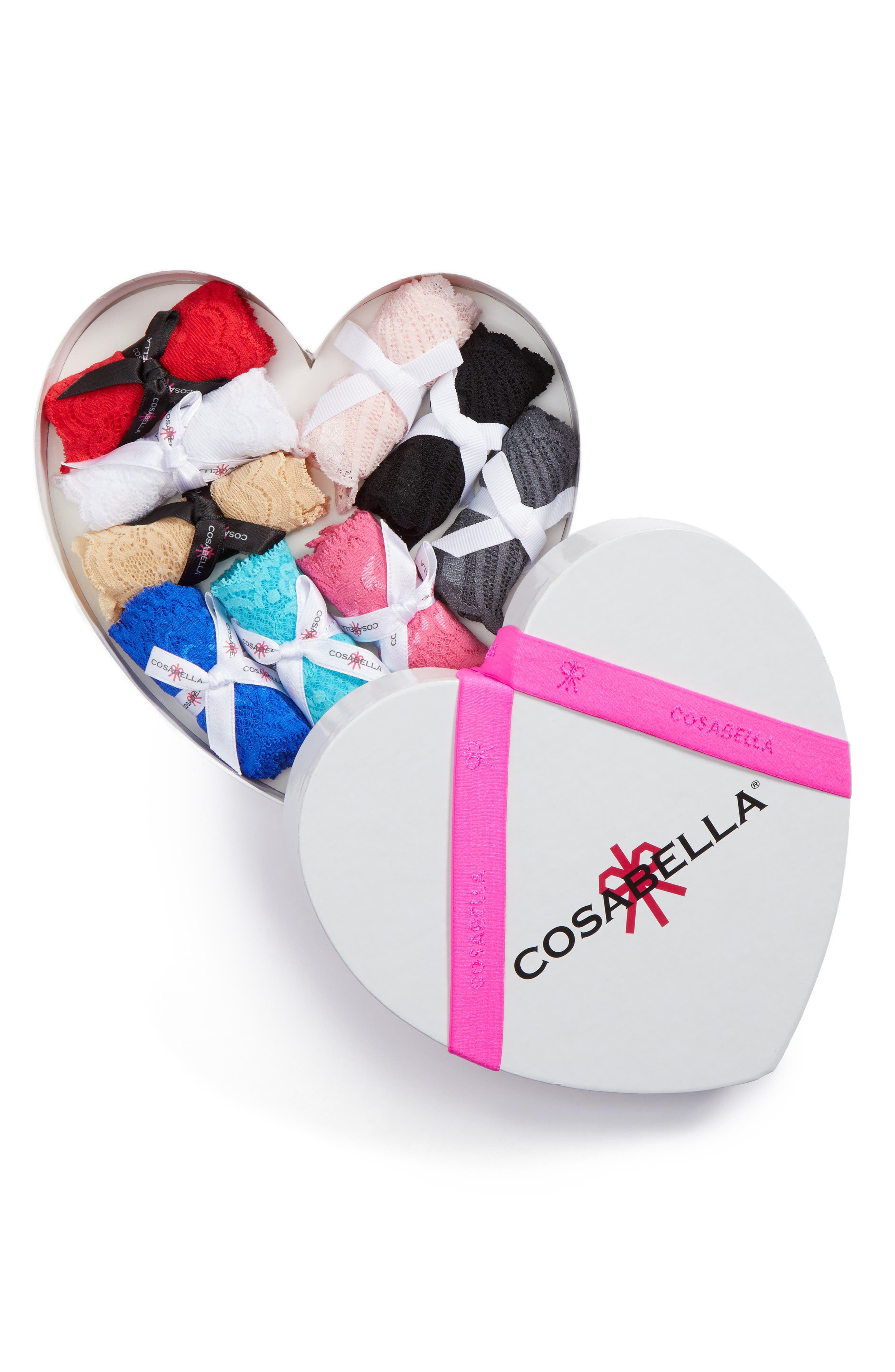 Cosabella Box of Love 9-Pack Lace Thongs
