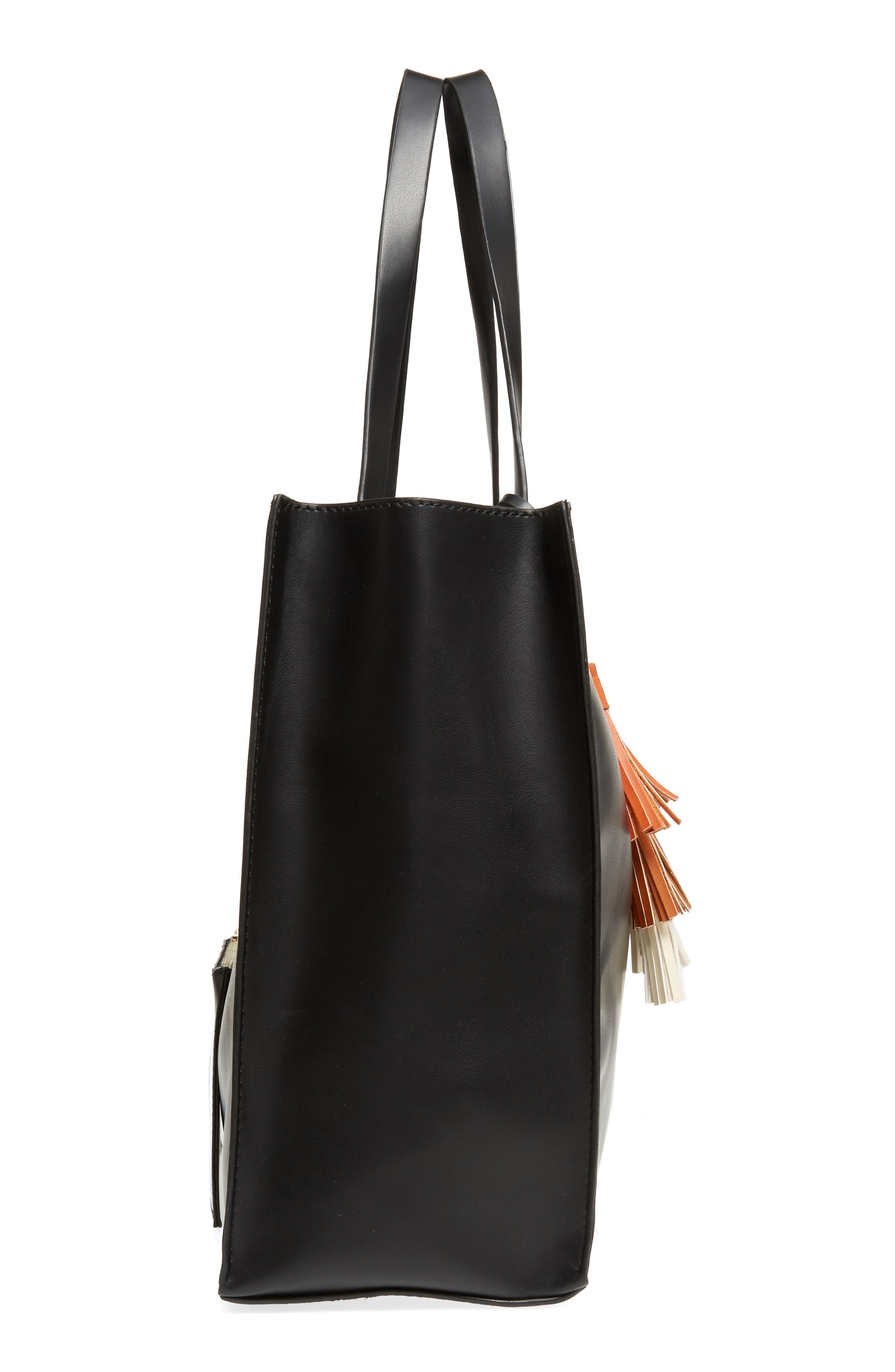 Alternate Image 5  - Emperia Tassel Faux Leather Tote