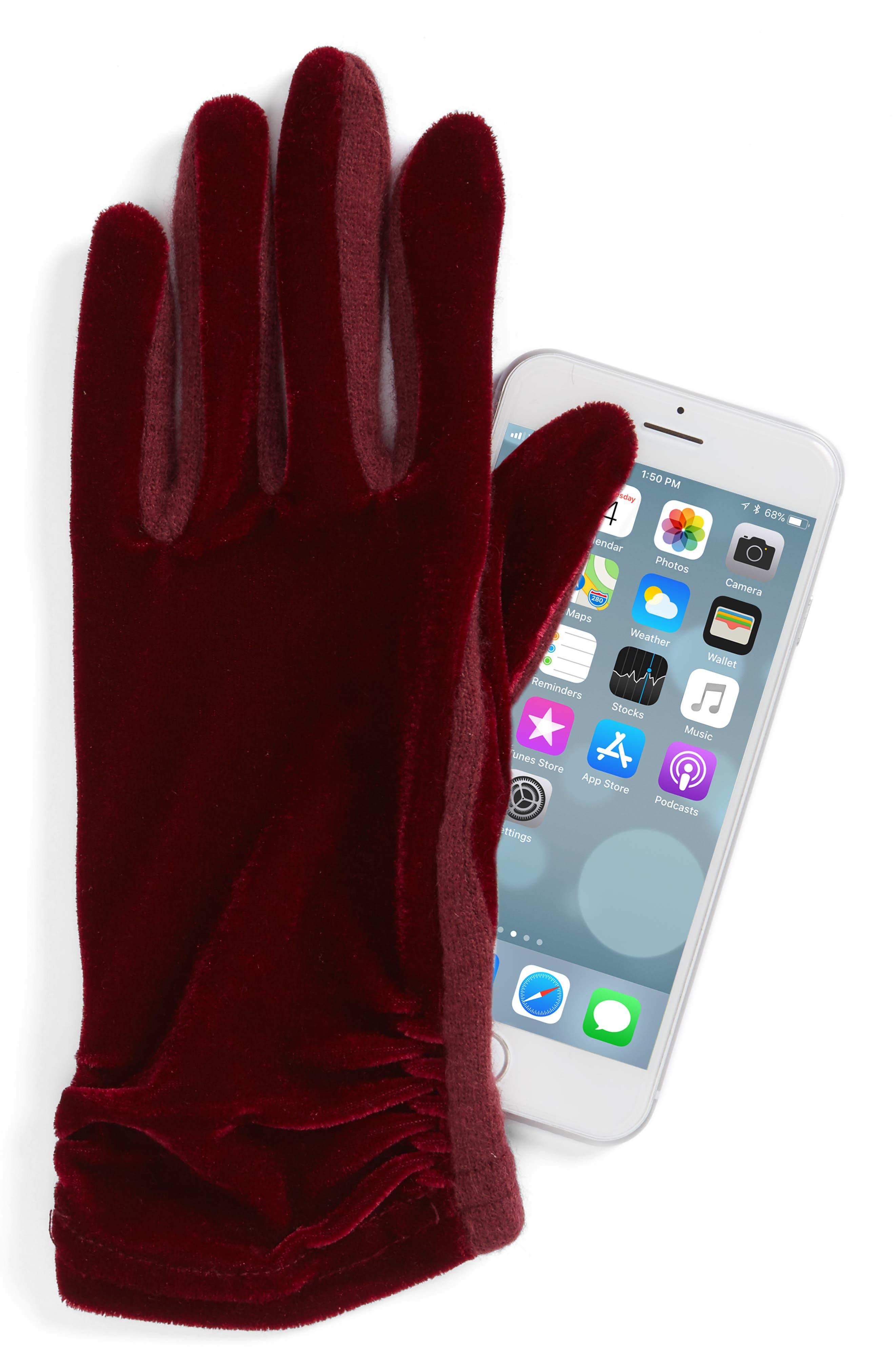 Alternate Image 2  - Echo Classic Velvet Tech Gloves