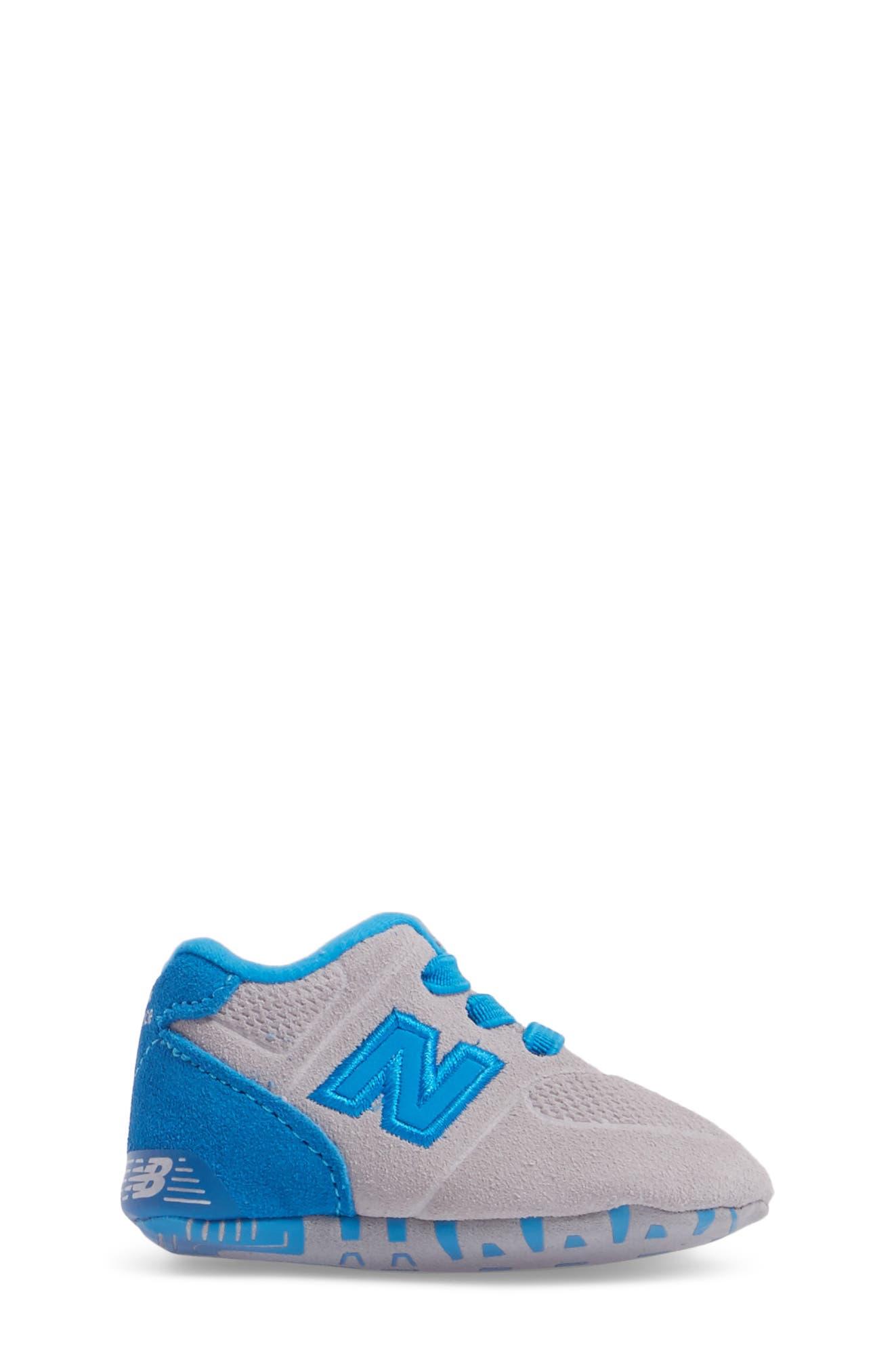 547 Crib Shoe,                             Alternate thumbnail 3, color,                             Blue/ Grey