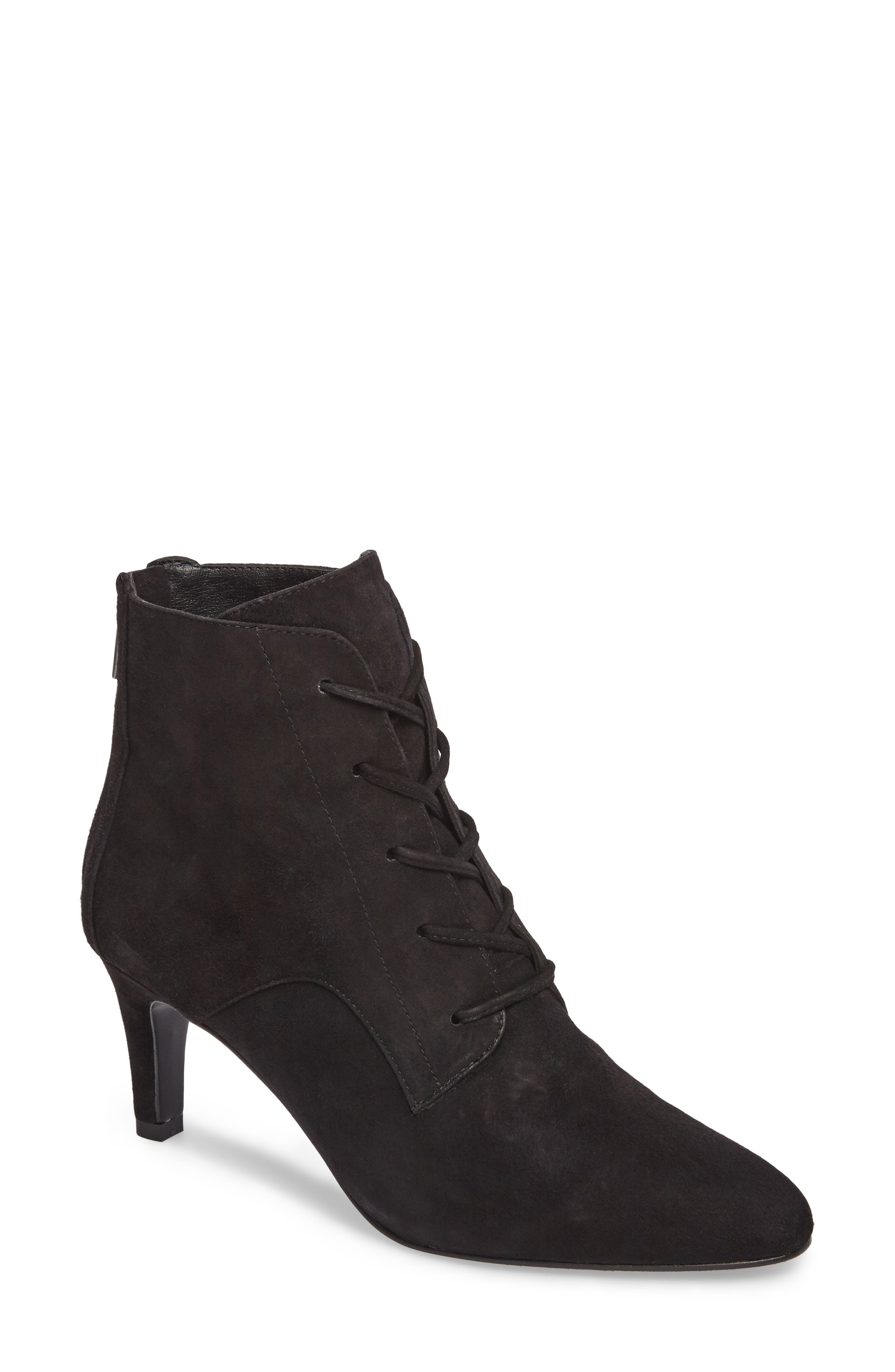 Yelen Bootie,                         Main,                         color, Black Leather