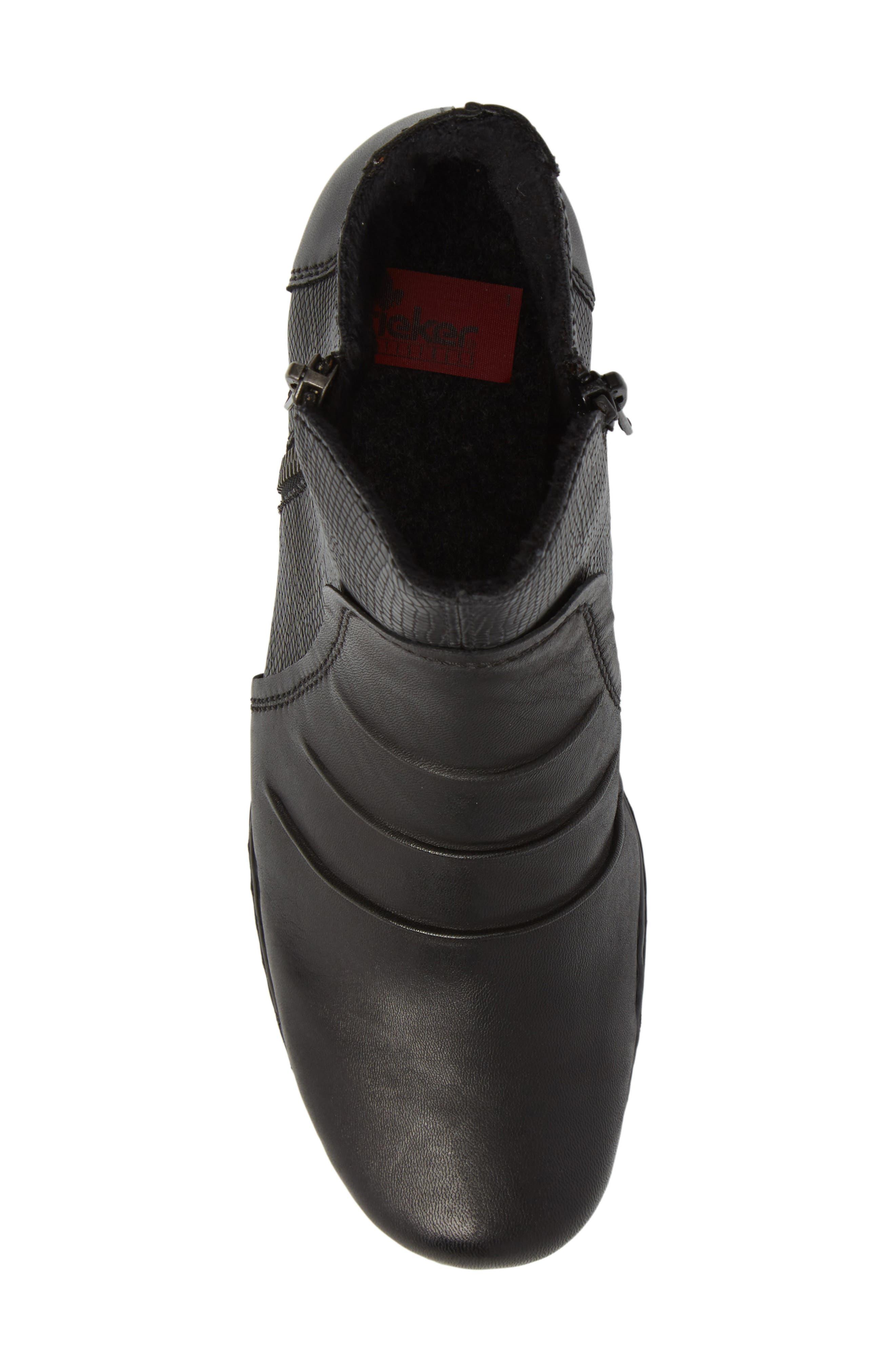 Lynn 62 Bootie,                             Alternate thumbnail 5, color,                             Schwarz Nero Leather