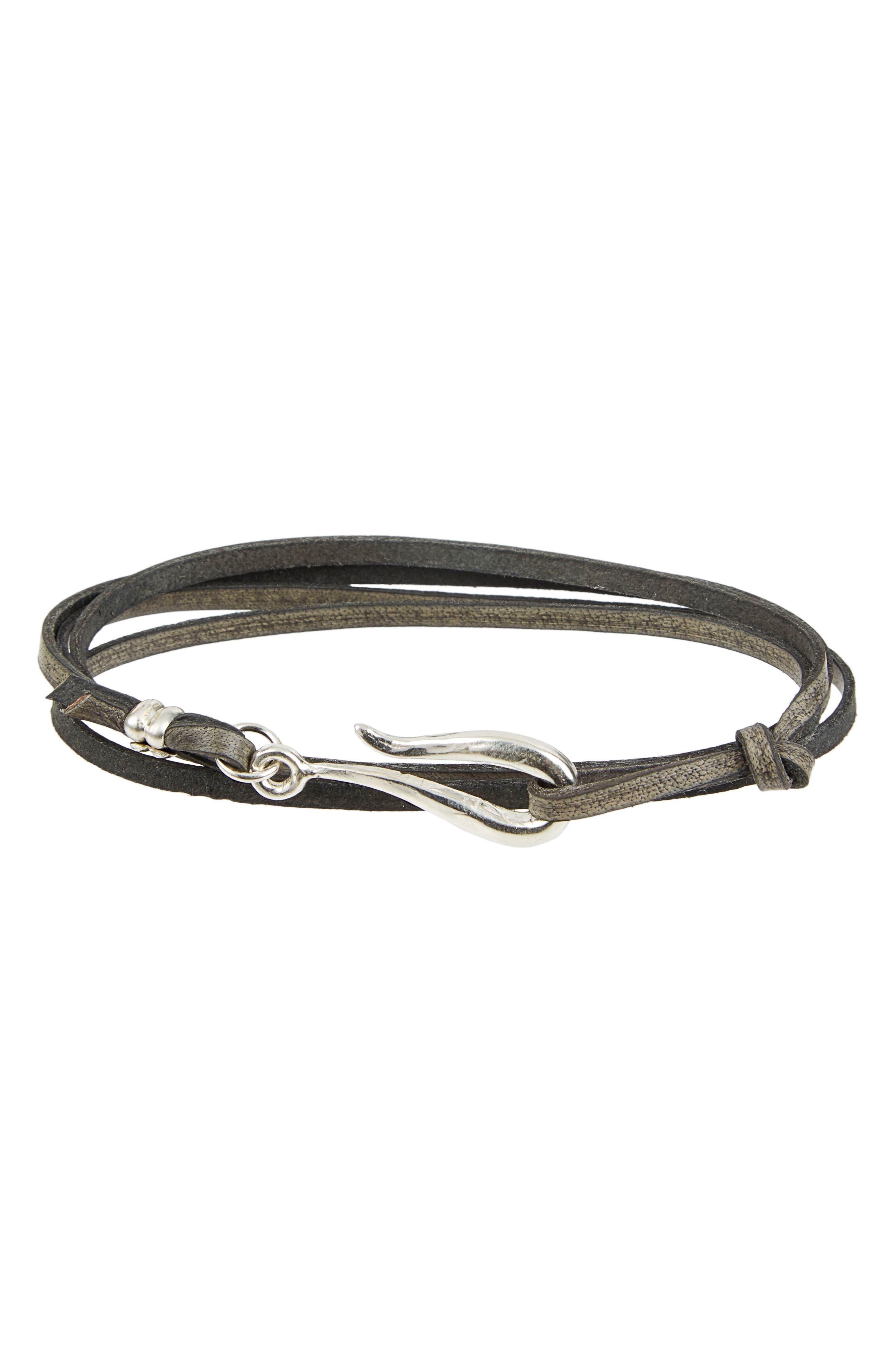 Lewis Henry Nicholas Leather Wrap Bracelet