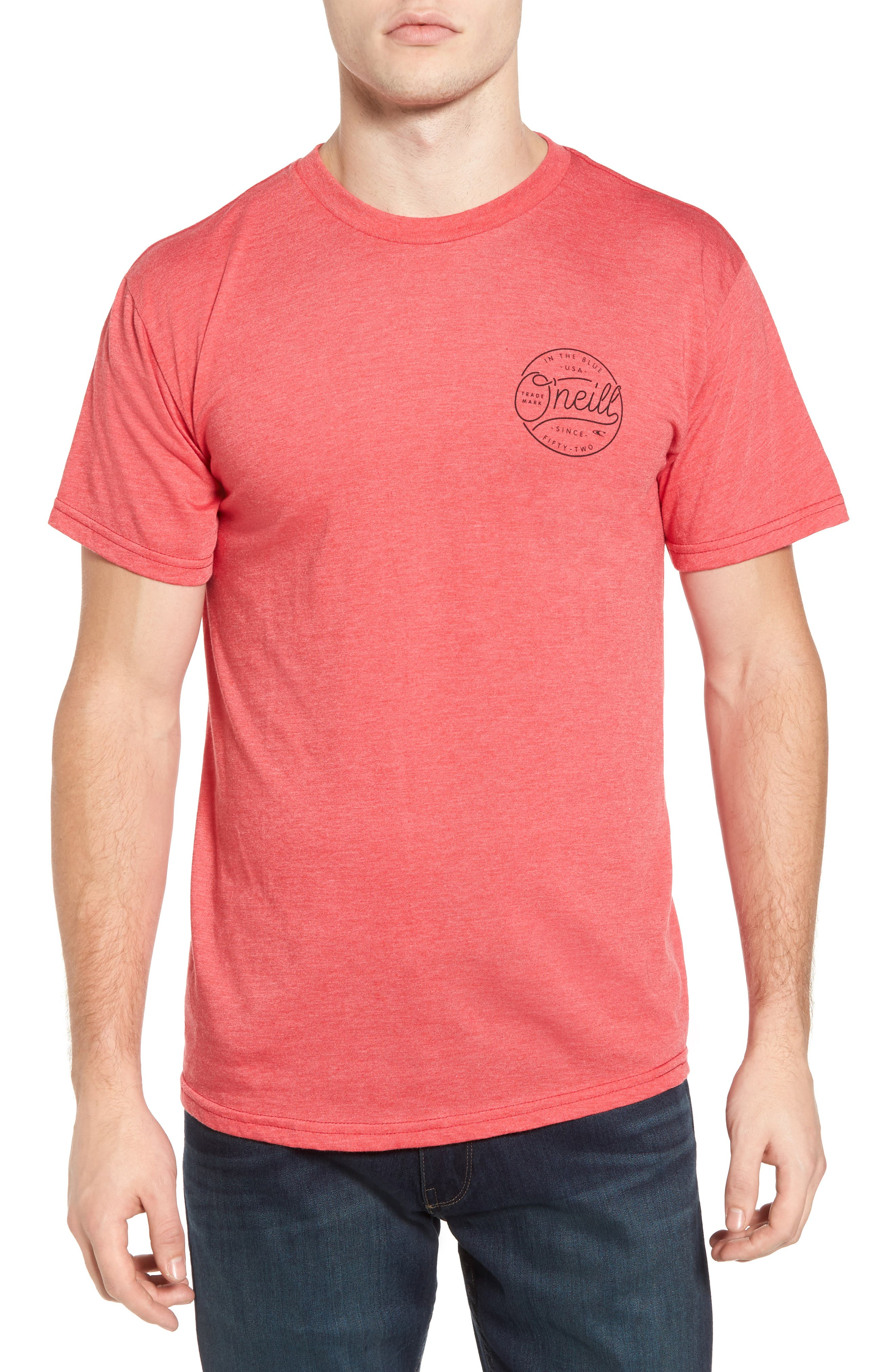 Hooked Graphic T-Shirt,                         Main,                         color, Heather Red