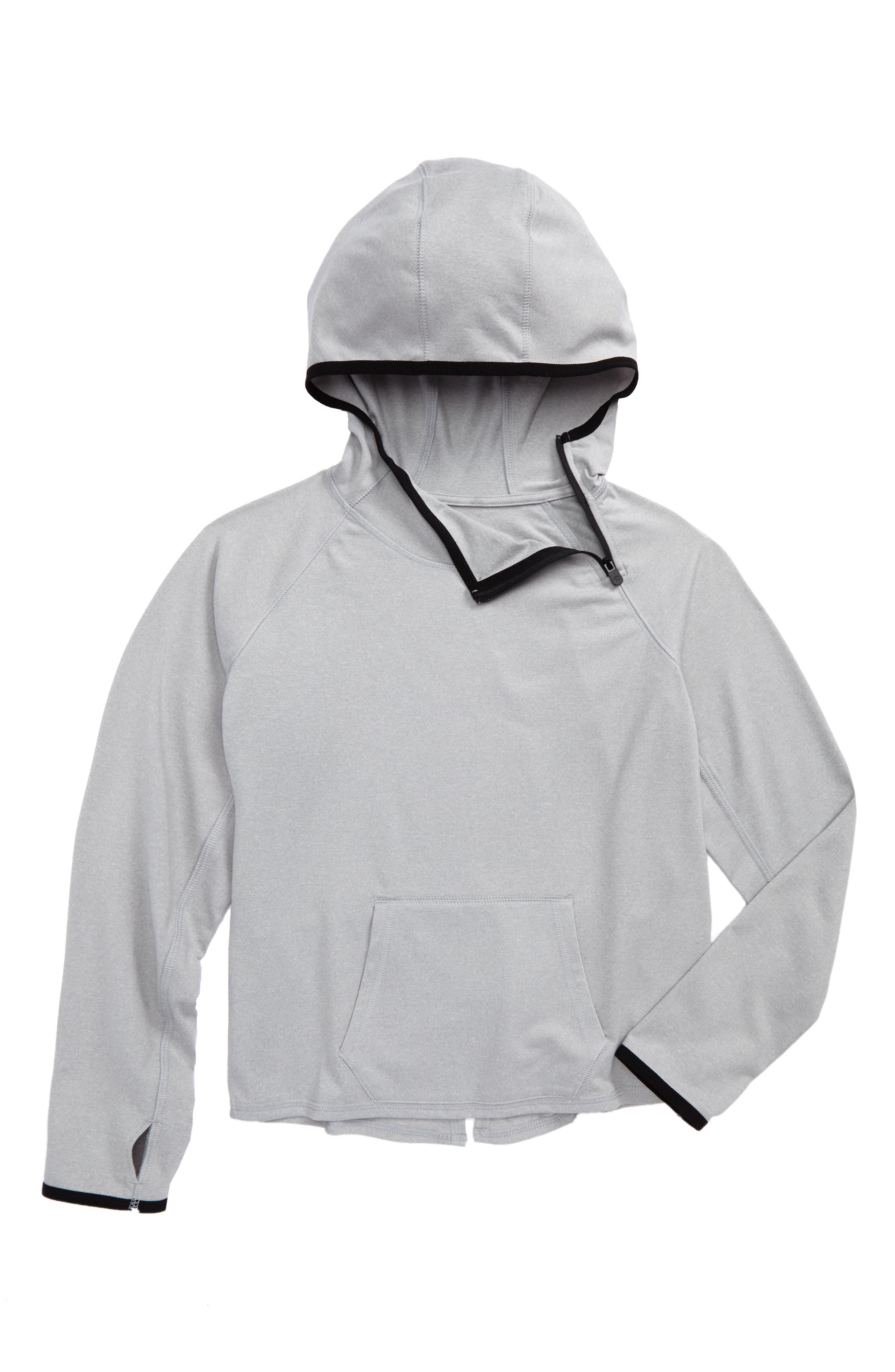 Split Back Hoodie,                         Main,                         color, Grey Ash Heather