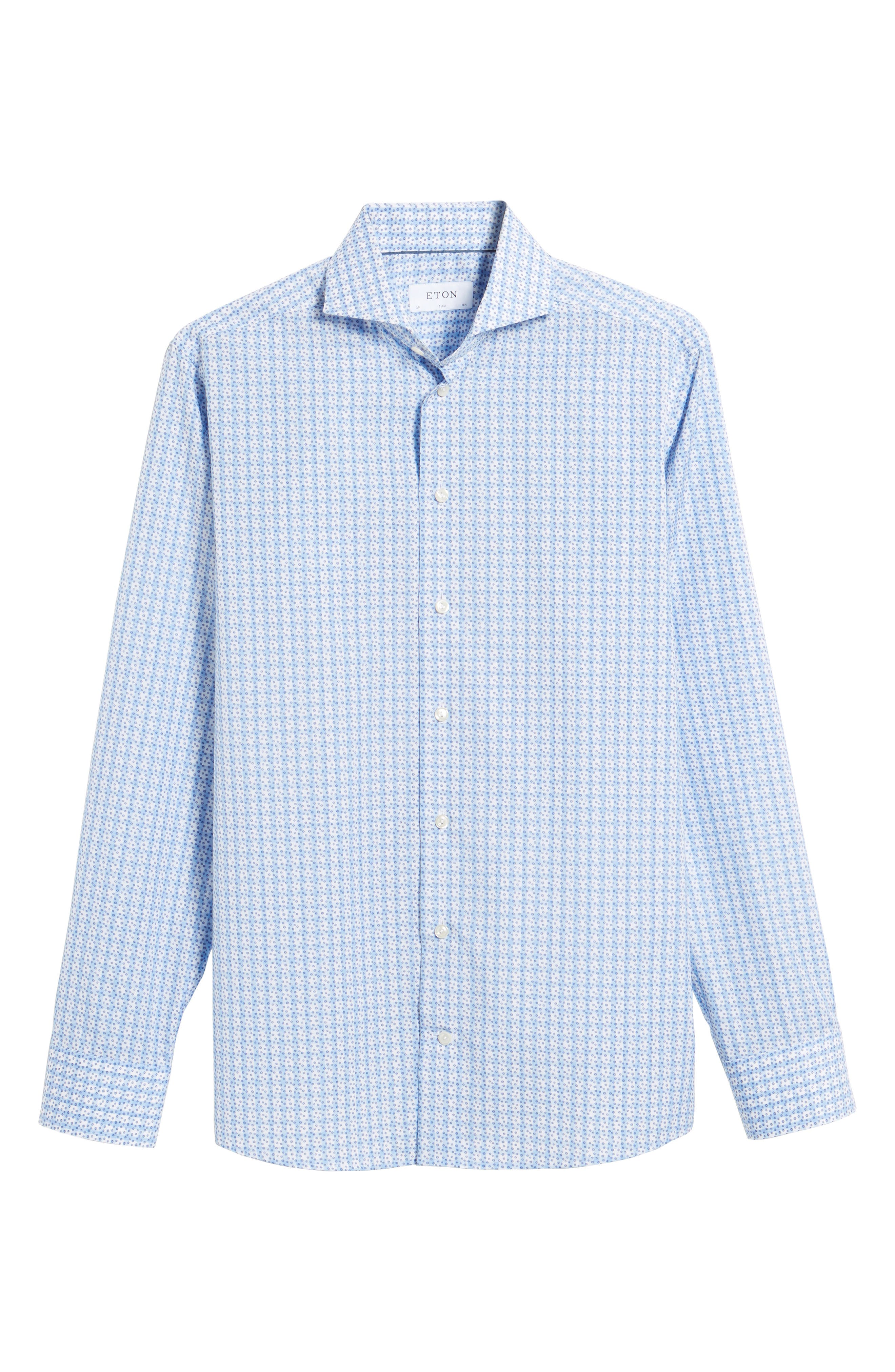 Alternate Image 4  - Eton Slim Fit Geometric Dress Shirt
