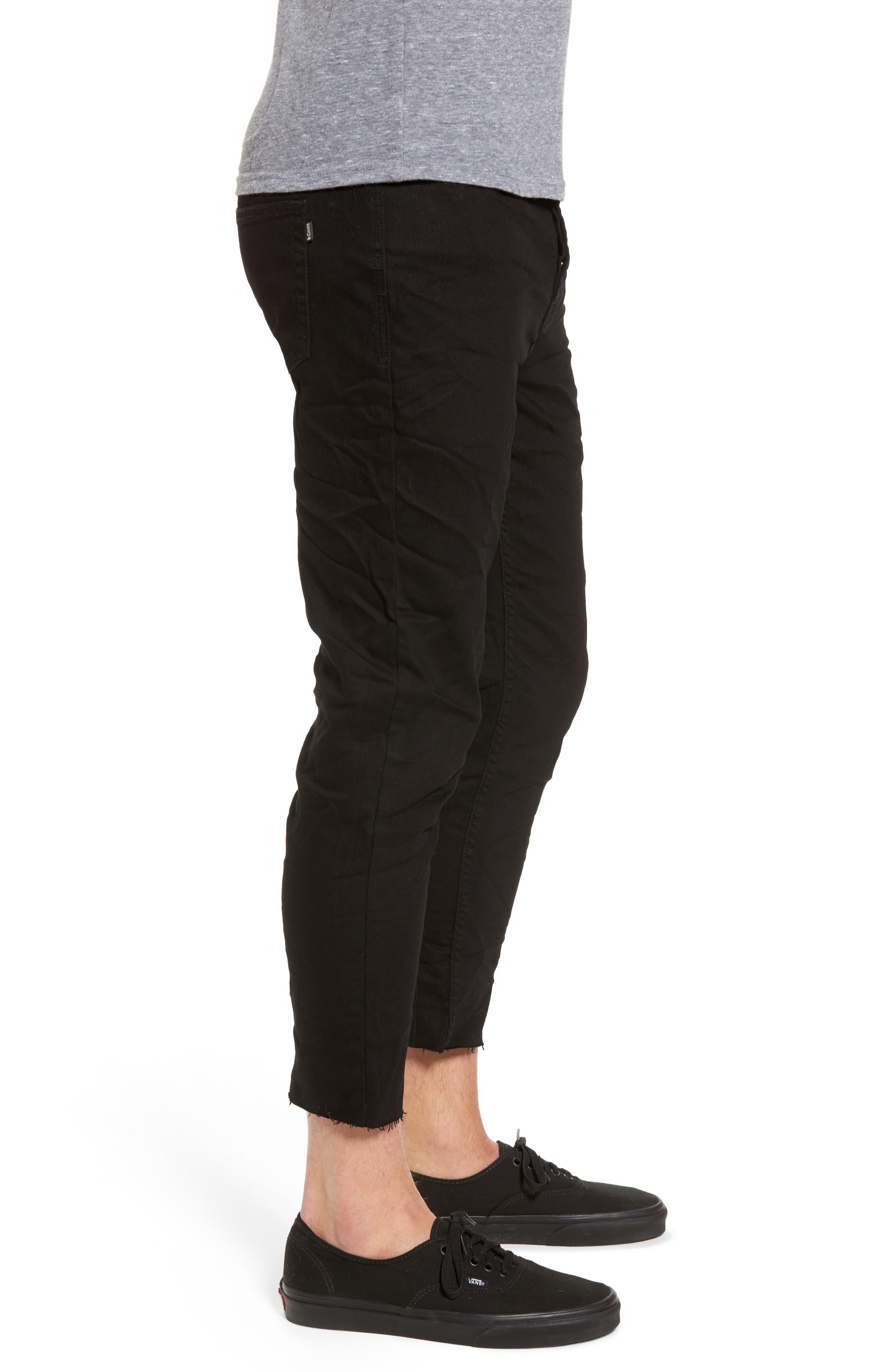 B.Line Crop Slim Fit Jeans,                             Alternate thumbnail 3, color,                             Washed Black