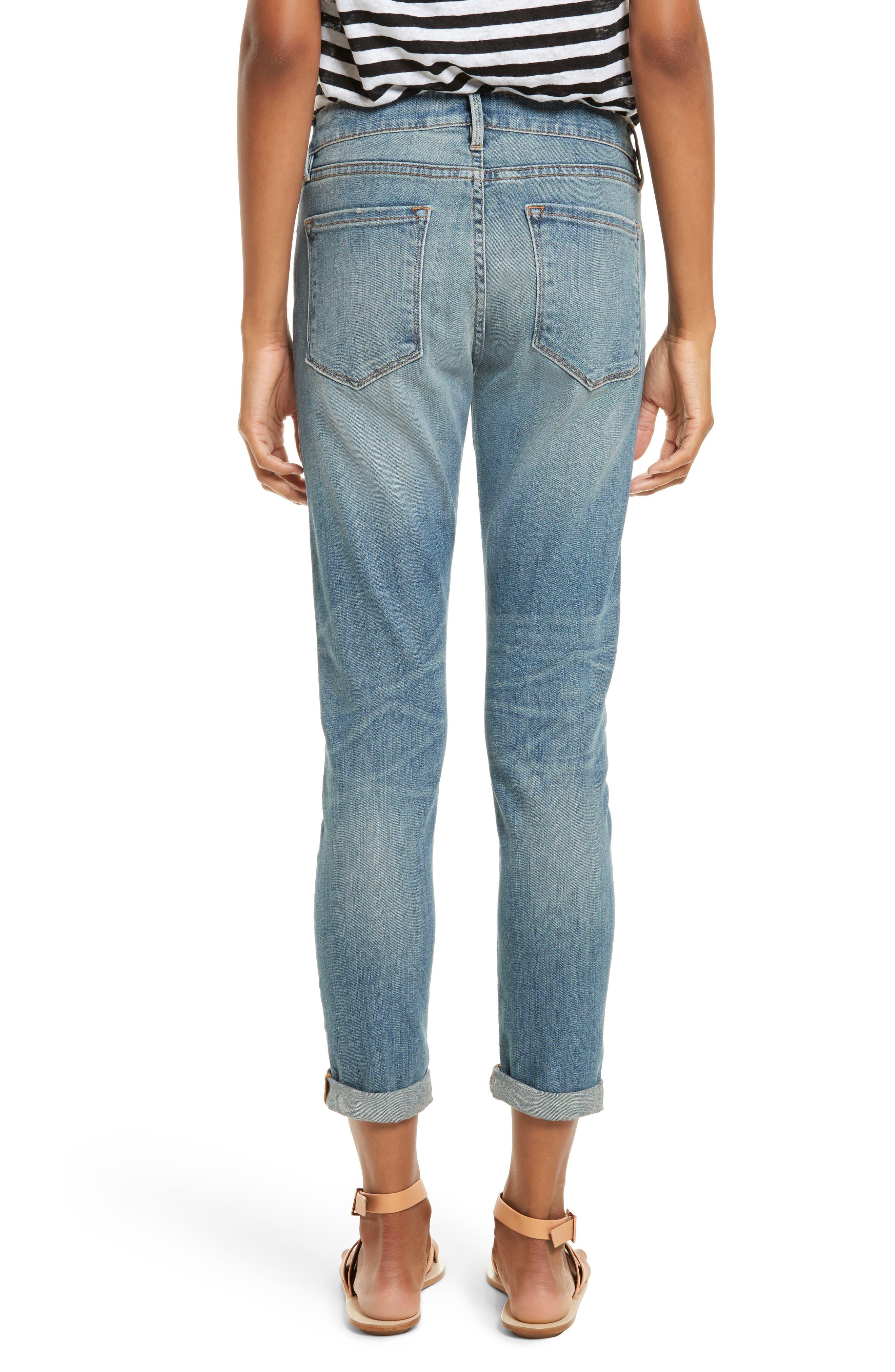 Le Garçon Crop Boyfriend Jeans,                             Alternate thumbnail 3, color,                             Storm