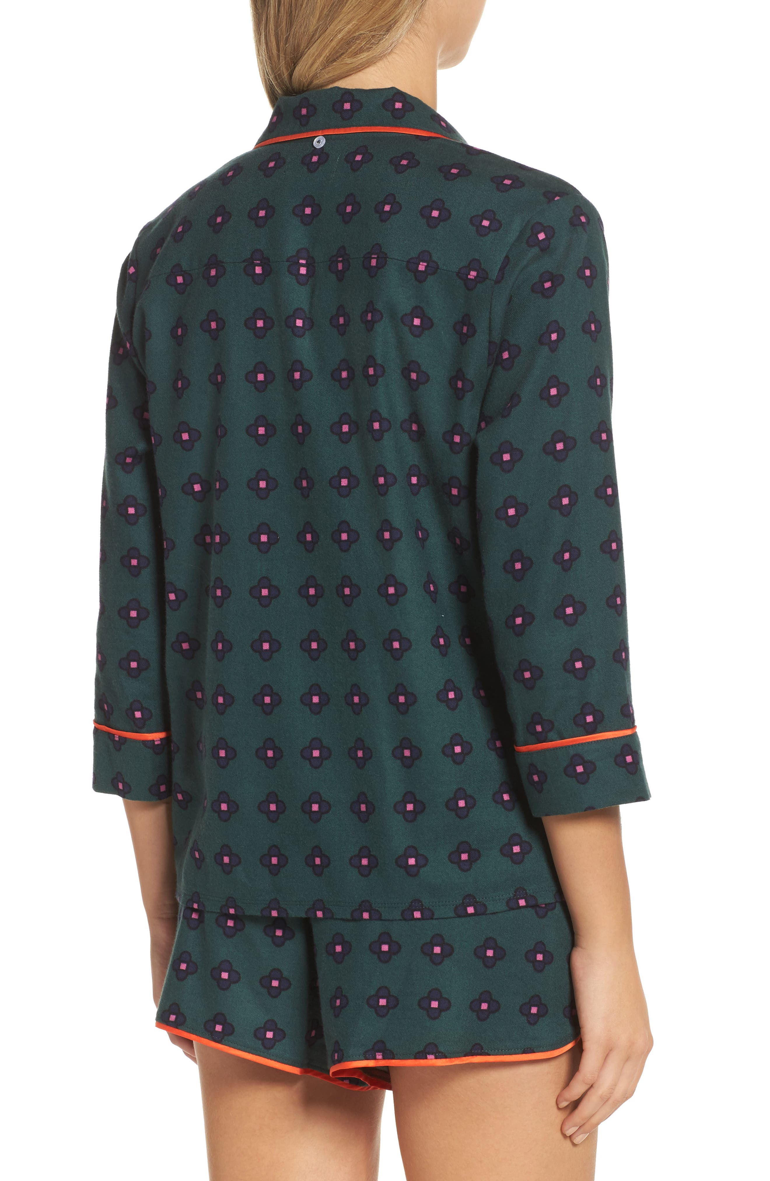 Alternate Image 2  - Room Service Shorty Flannel Pajamas