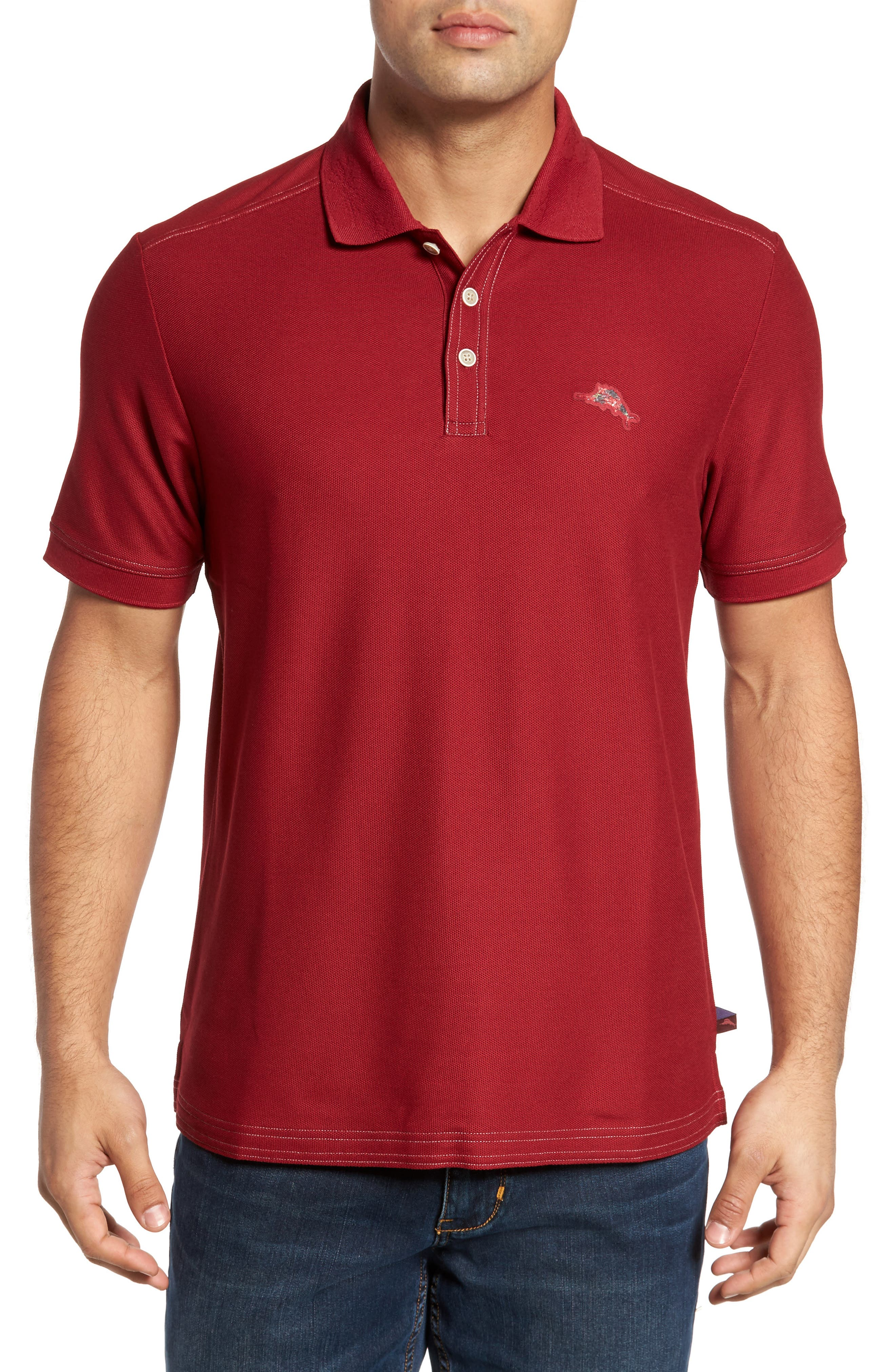 Main Image - Tommy Bahama Limited Edition Poinsettia Emfielder Piqué Polo