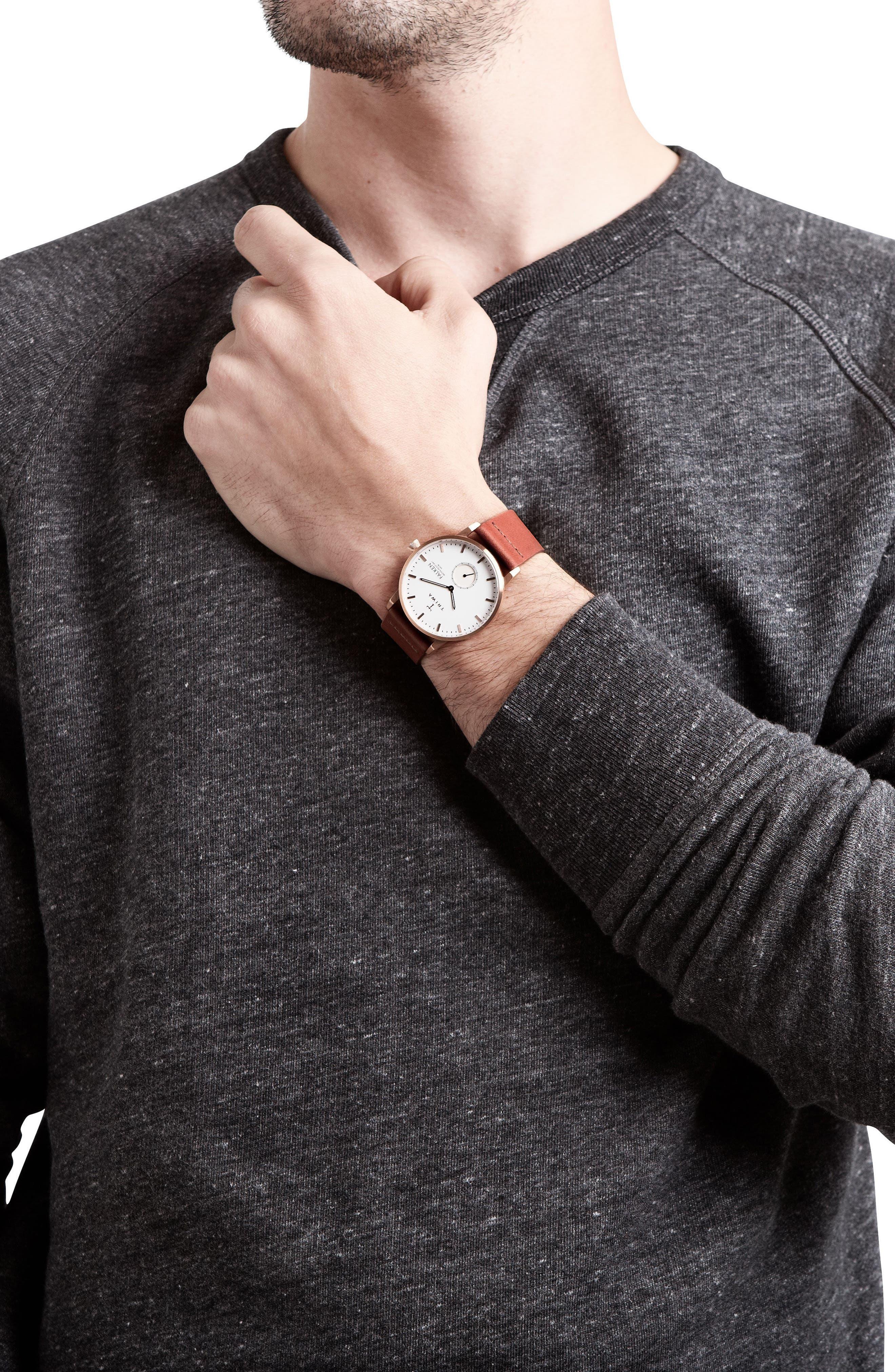 Alternate Image 2  - TRIWA Falken Organic Leather Strap Watch, 38mm