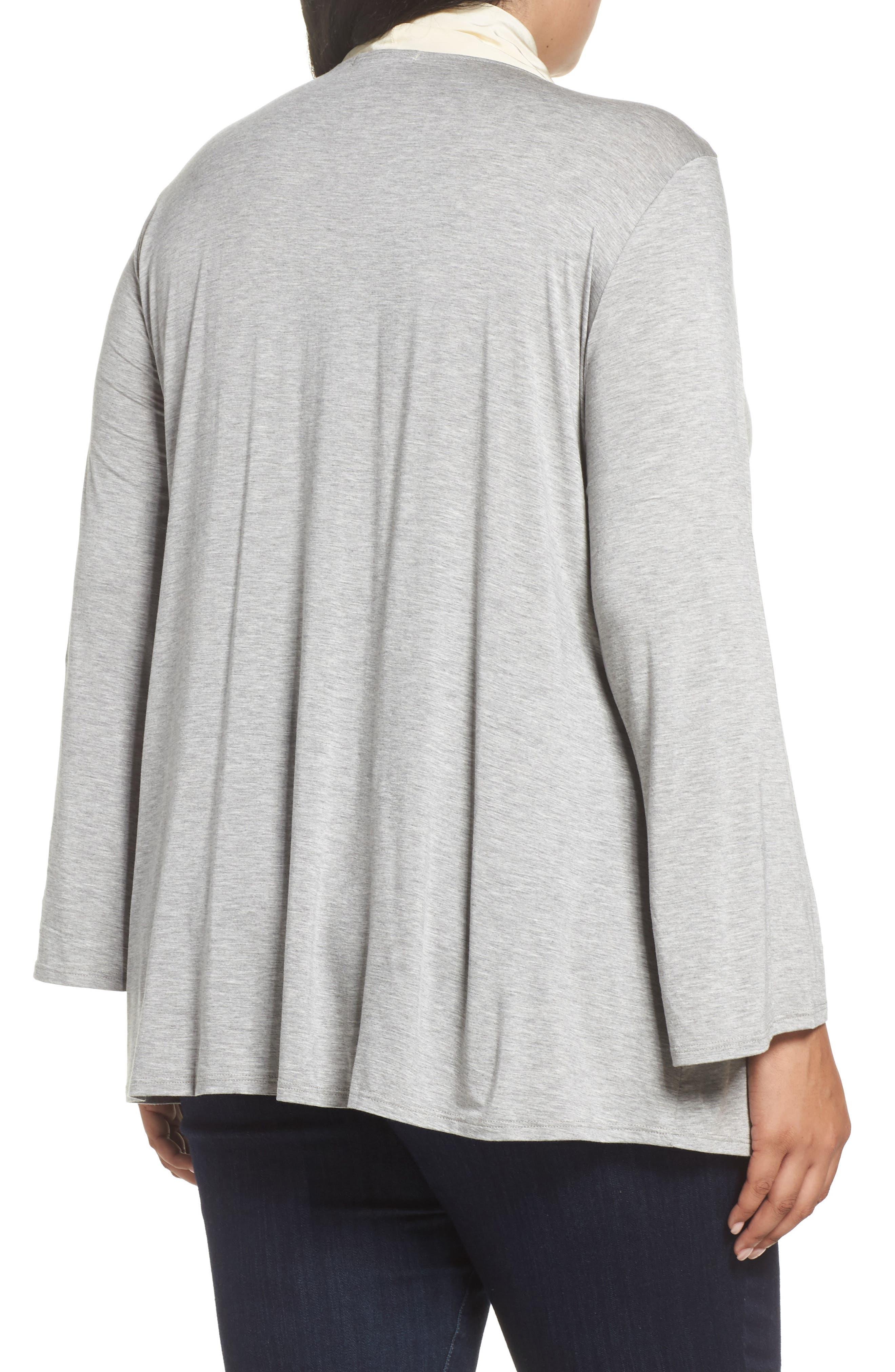 Alternate Image 2  - Three Dots Tie Neck Jersey Top (Plus Size)
