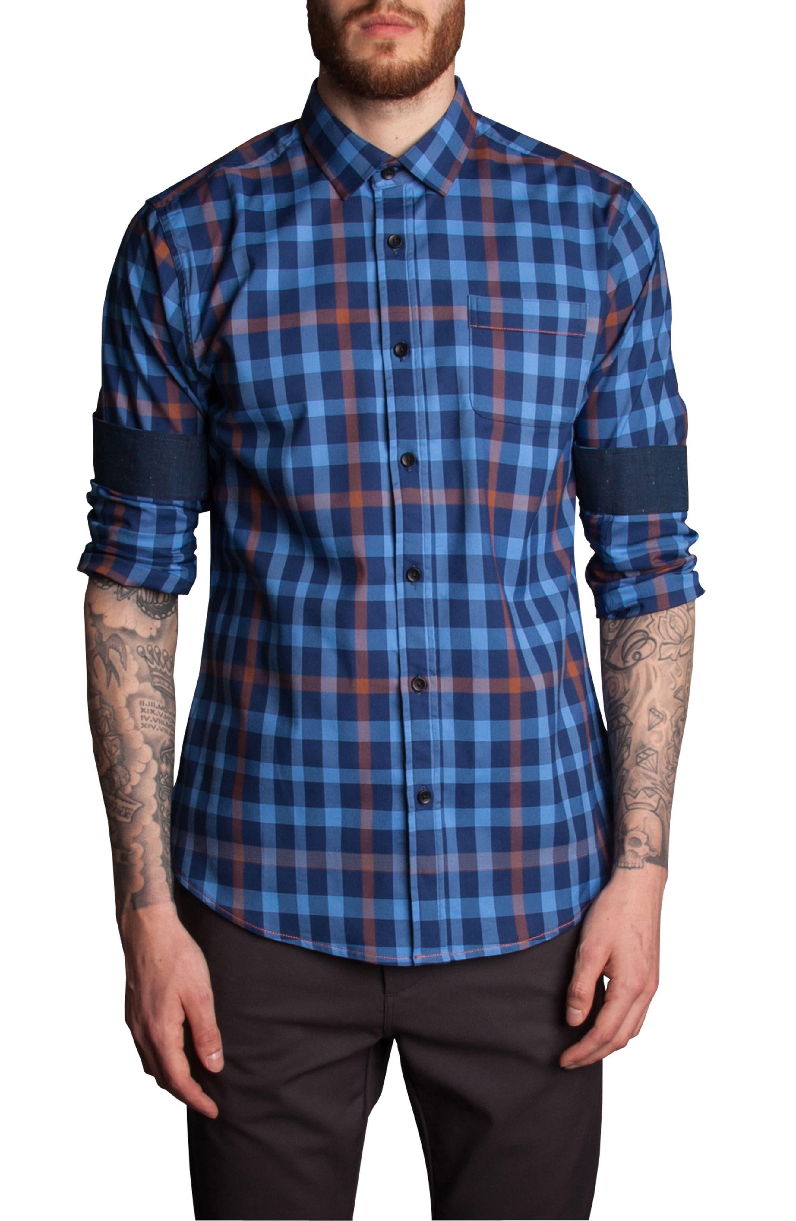 Alternate Image 4  - Descendant of Thieves Plaid Sport Shirt