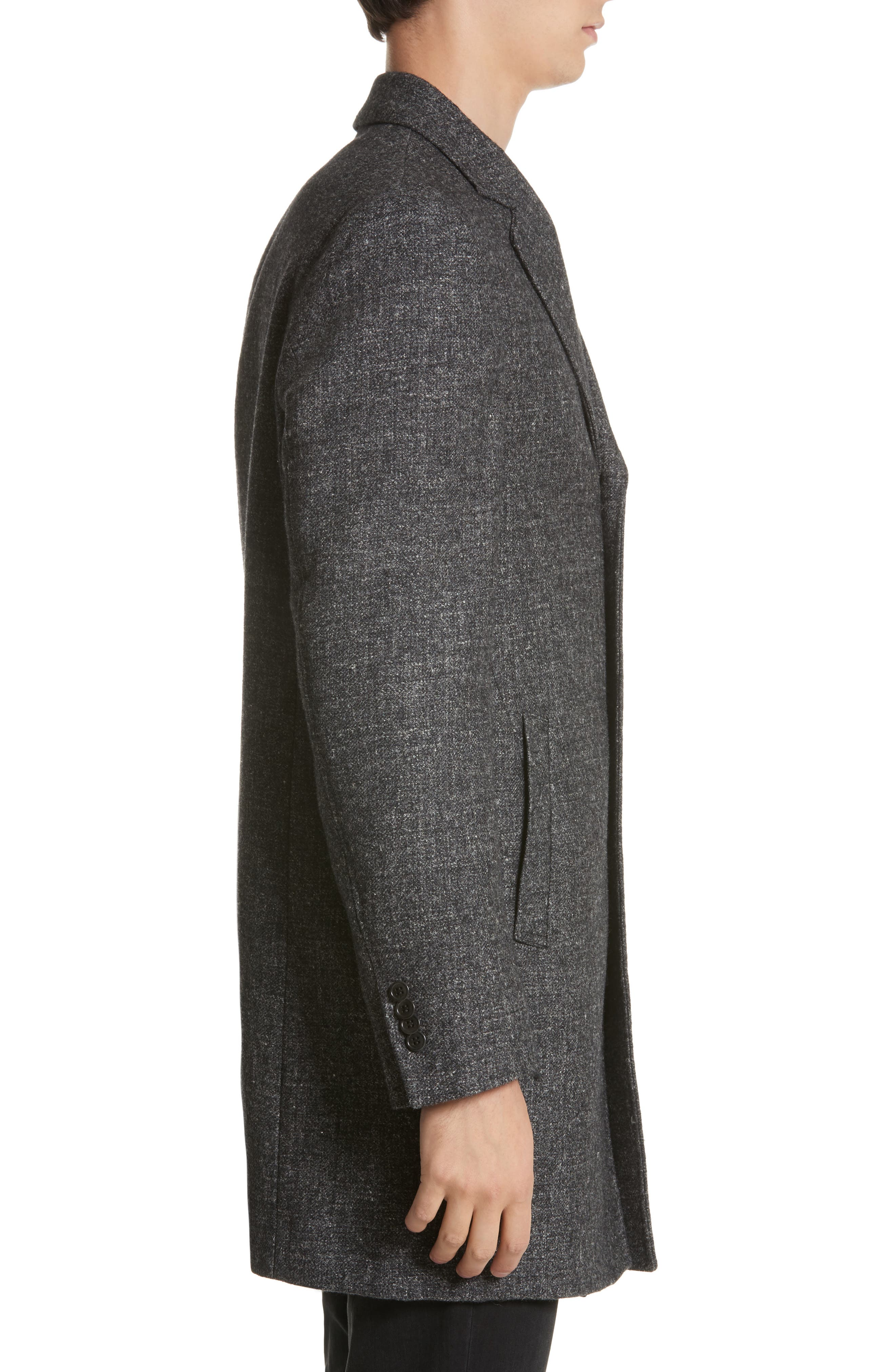 Walsh Wool Blend Topcoat,                             Alternate thumbnail 3, color,                             Charcoal