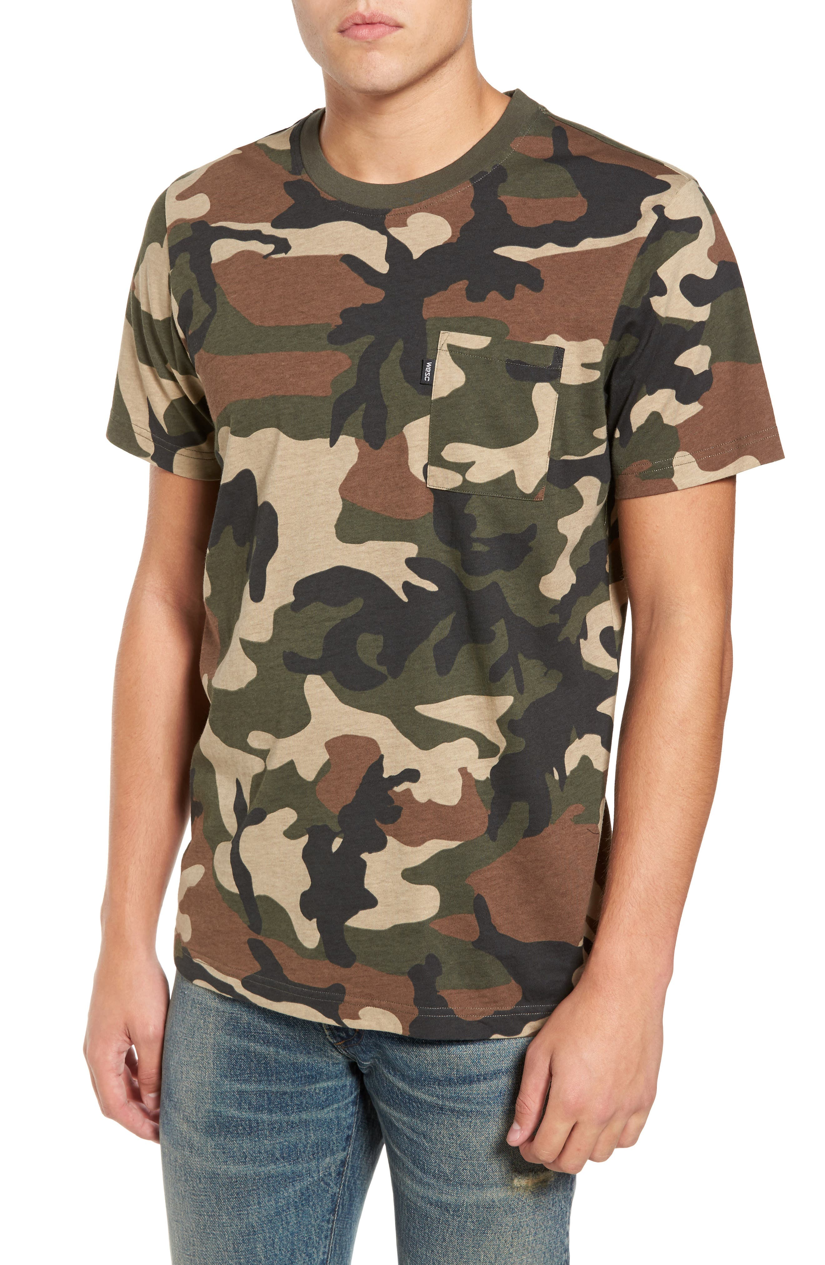 Maxwell Camo T-Shirt,                         Main,                         color, Olive