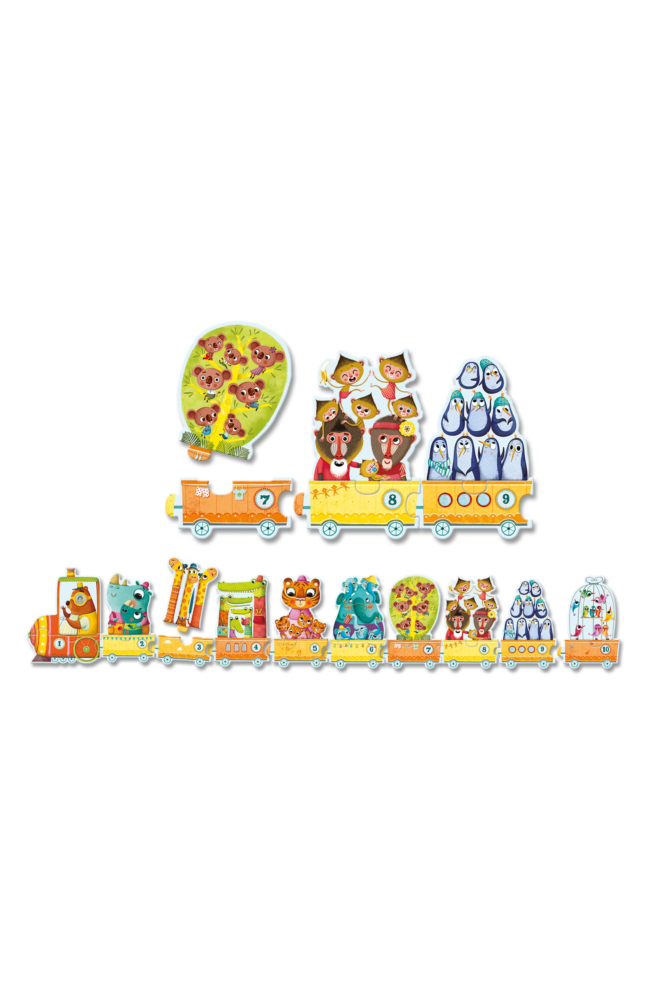 Alternate Image 2  - Djeco 20-Piece I Count Linking Train Puzzle