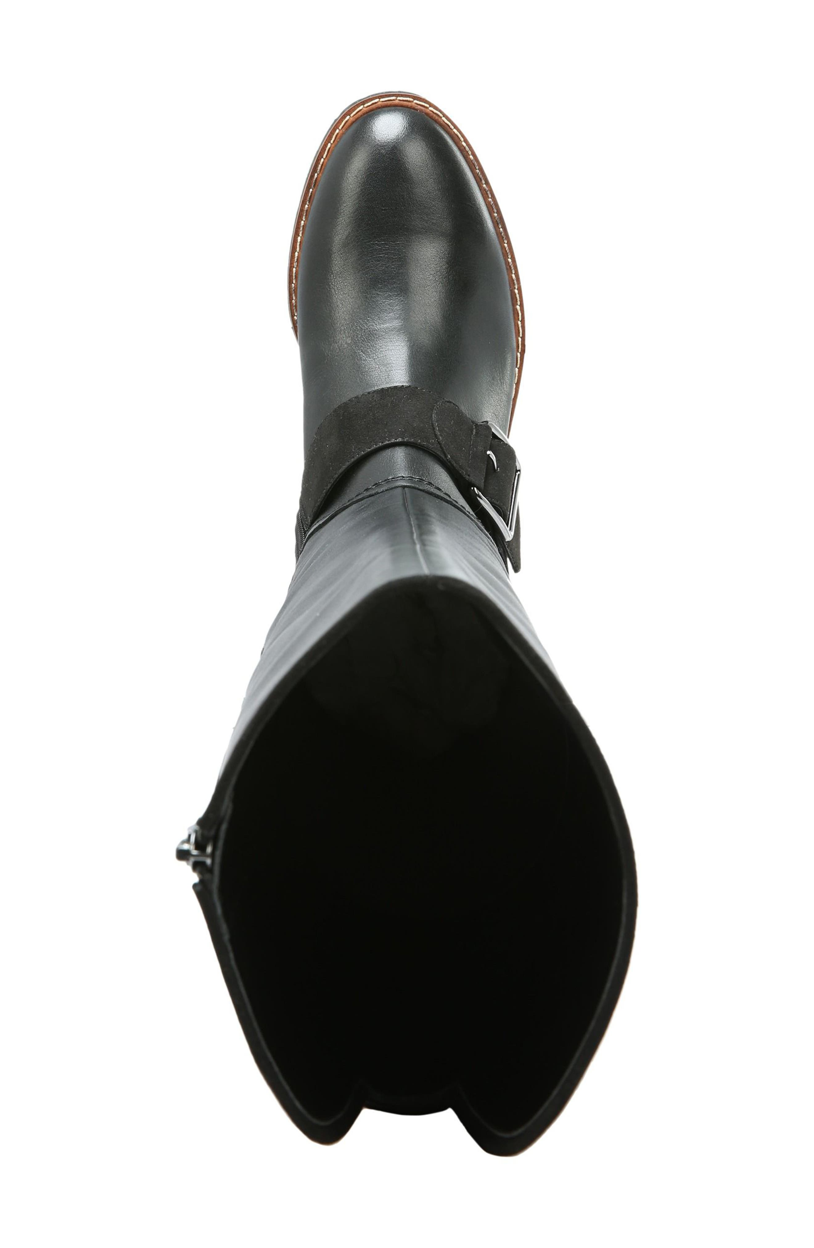 Cutler Riding Boot,                             Alternate thumbnail 5, color,                             Black Leather