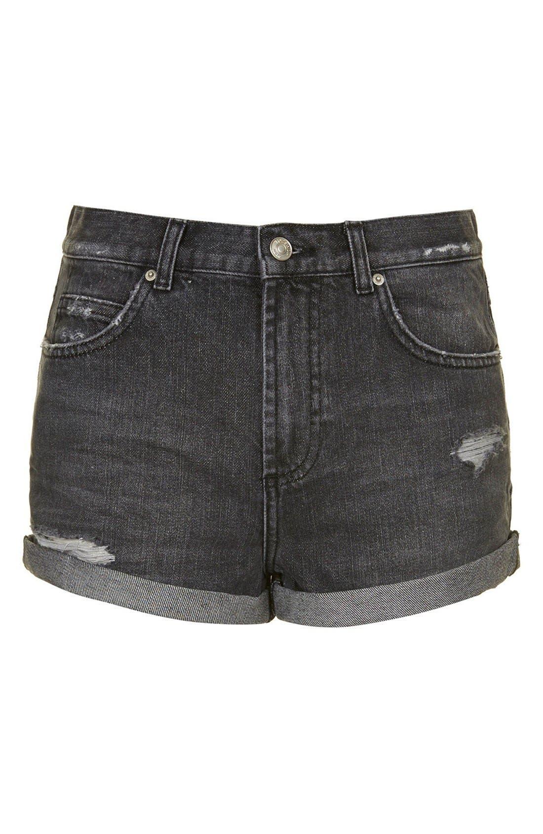 Alternate Image 3  - Topshop Moto 'Rosa' Cuffed Denim Shorts