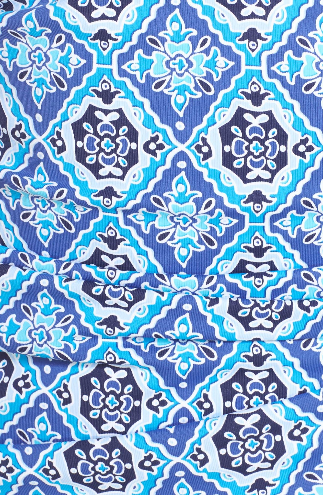 Tika Tiles Tankini Top,                             Alternate thumbnail 5, color,                             Dark Sanibel