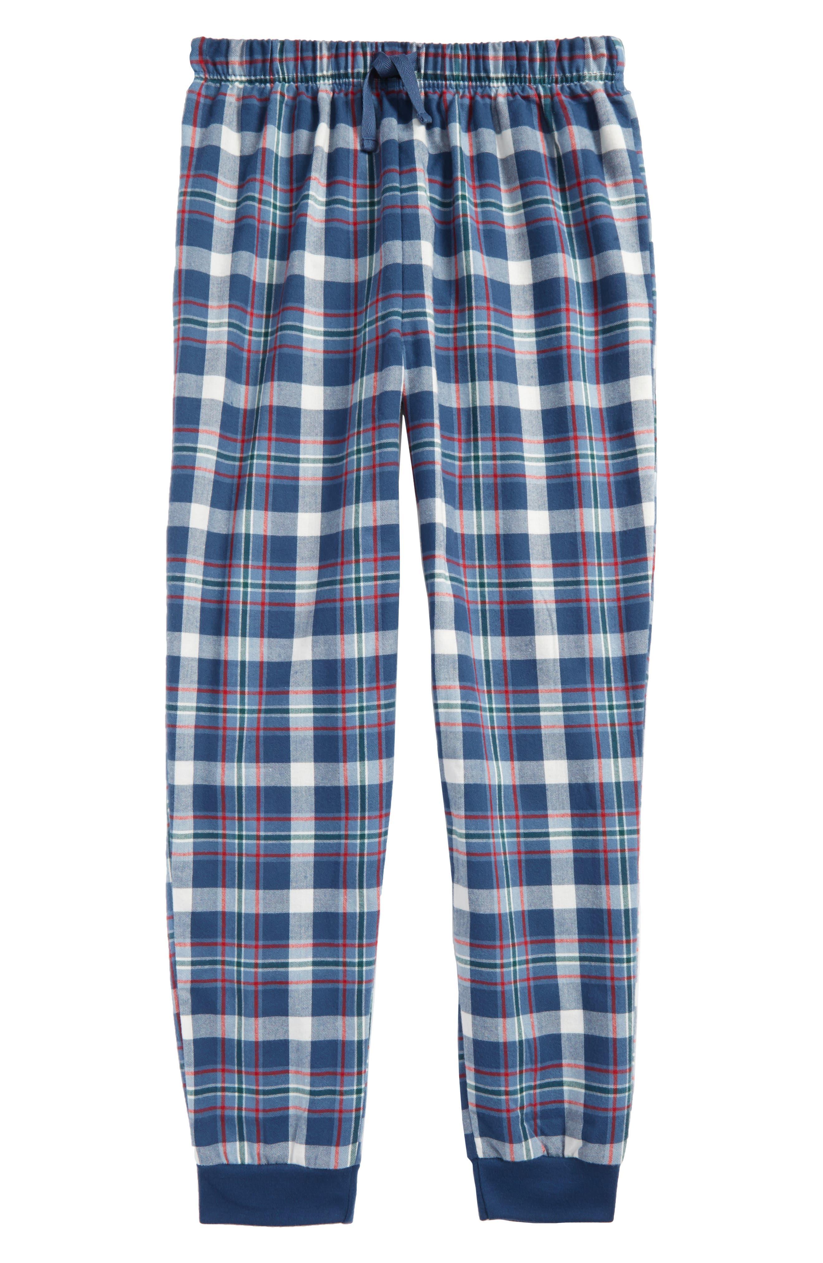 Flannel Jogger Pants,                         Main,                         color, Navy Denim- Blue