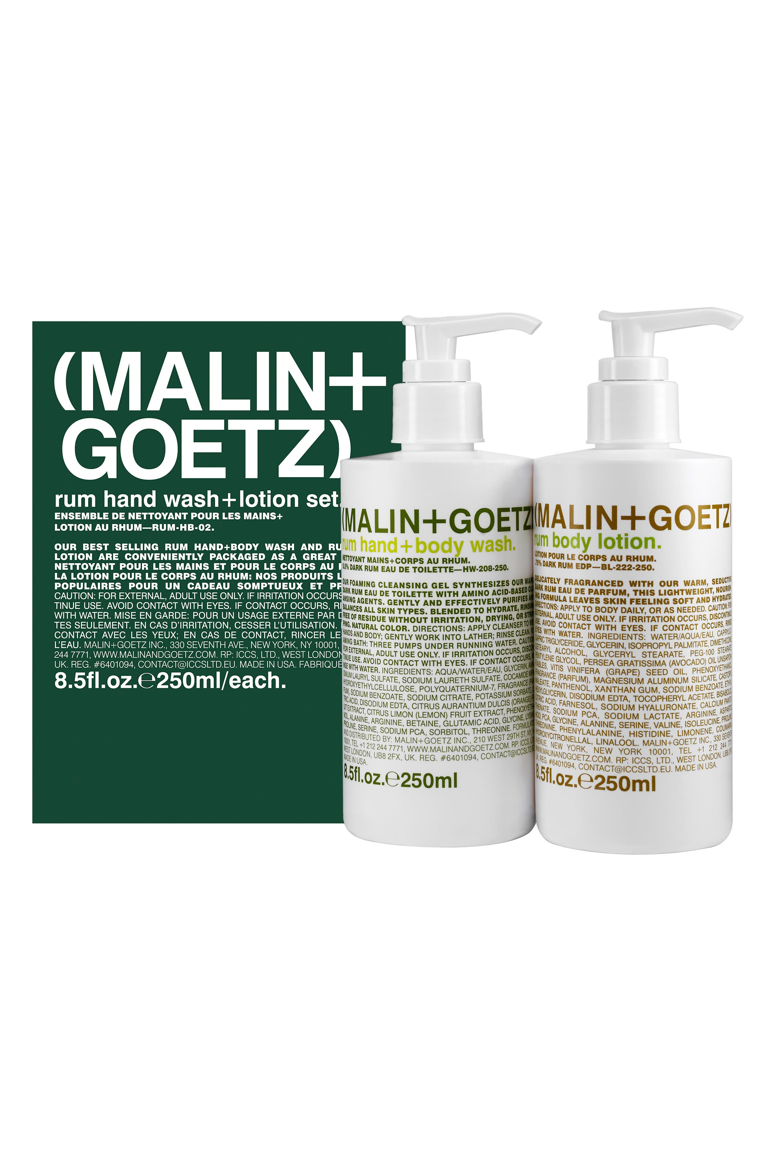 SPACE.NK.apothecary Malin + Goetz Rum Hand Wash & Lotion Collection ($56 Value)