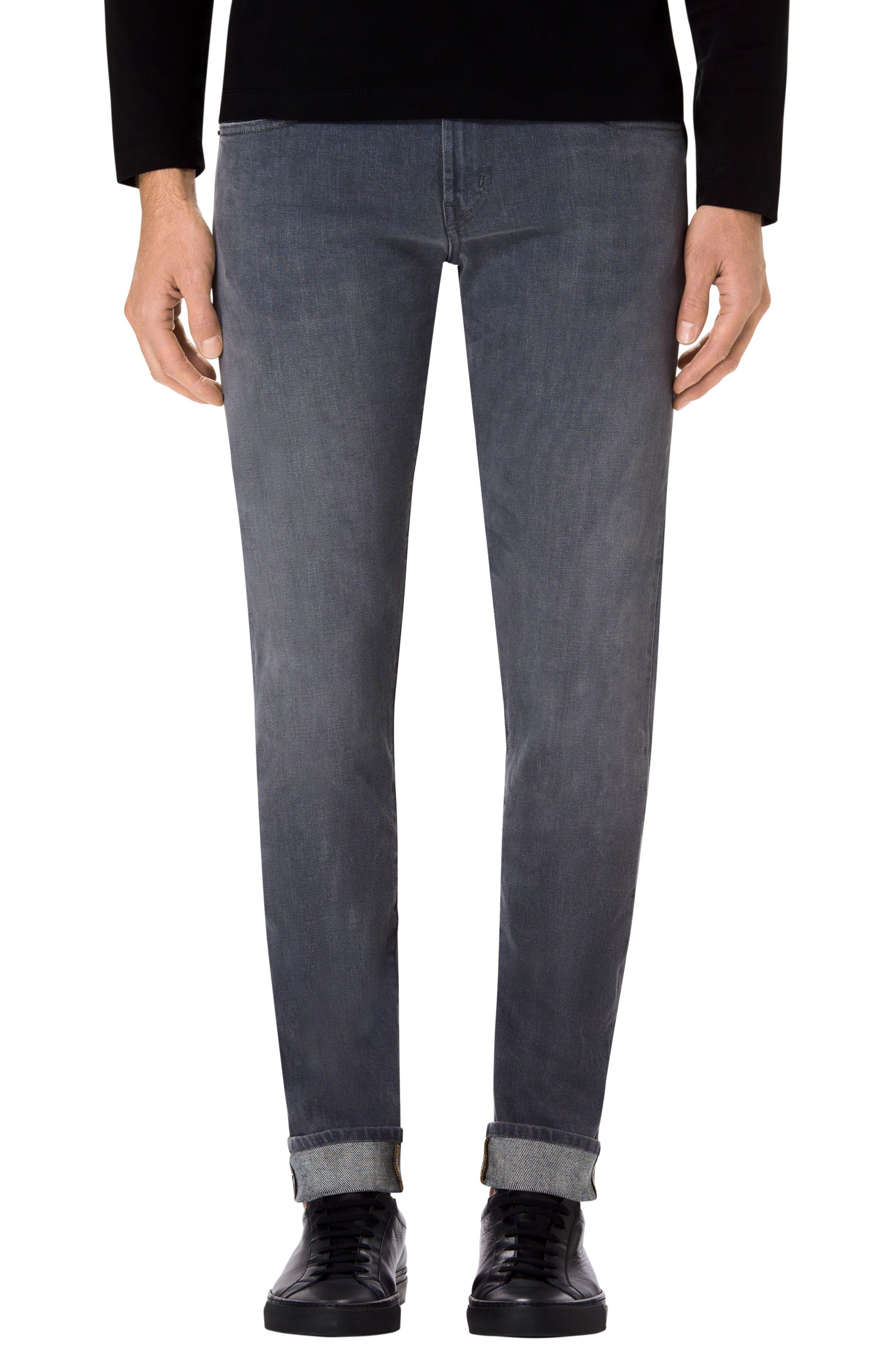 Tyler Slim Fit Jeans,                             Main thumbnail 1, color,                             Grey Luna