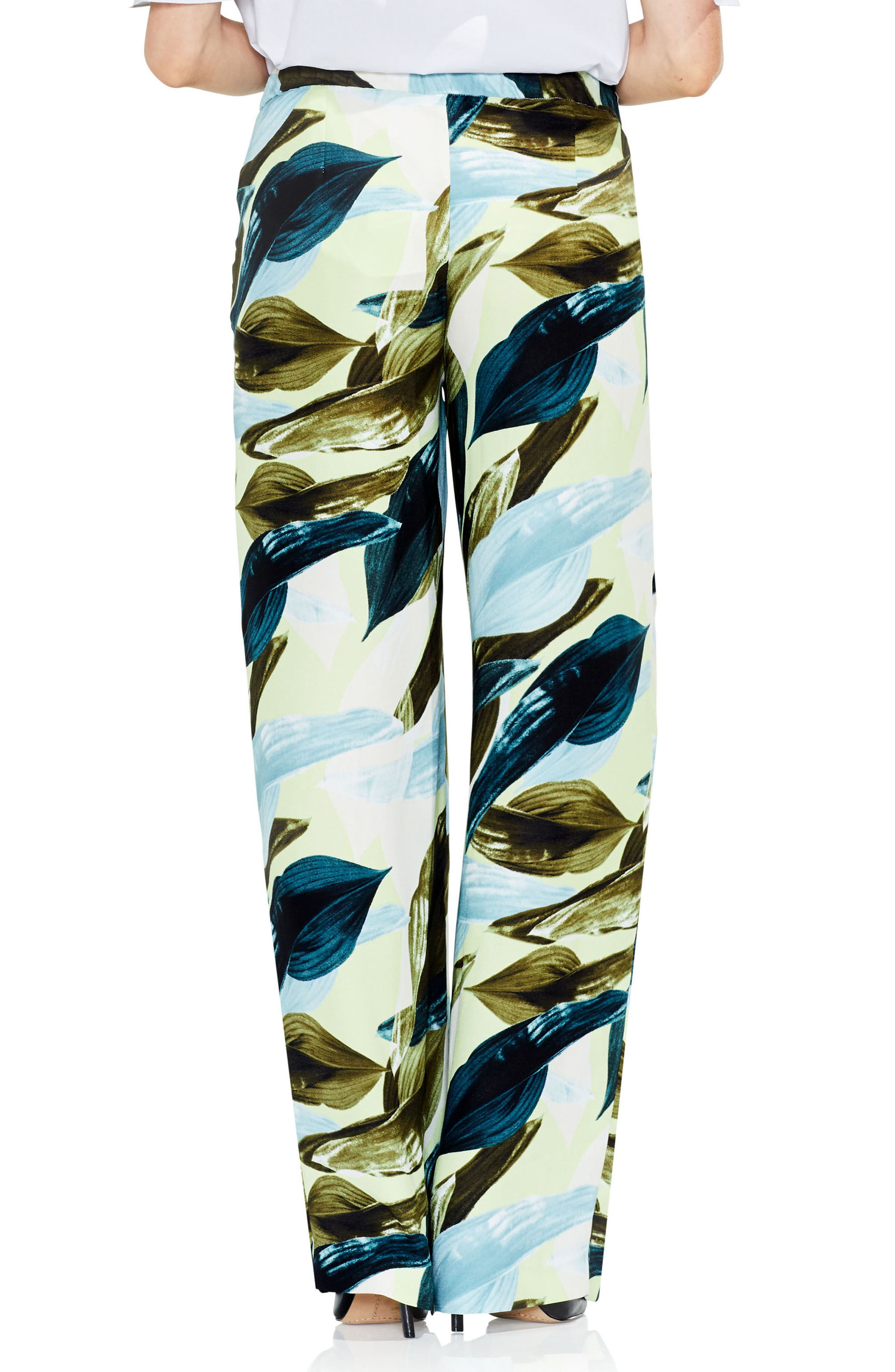 Alternate Image 2  - Vince Camuto Breezy Leaves Wide Leg Pants