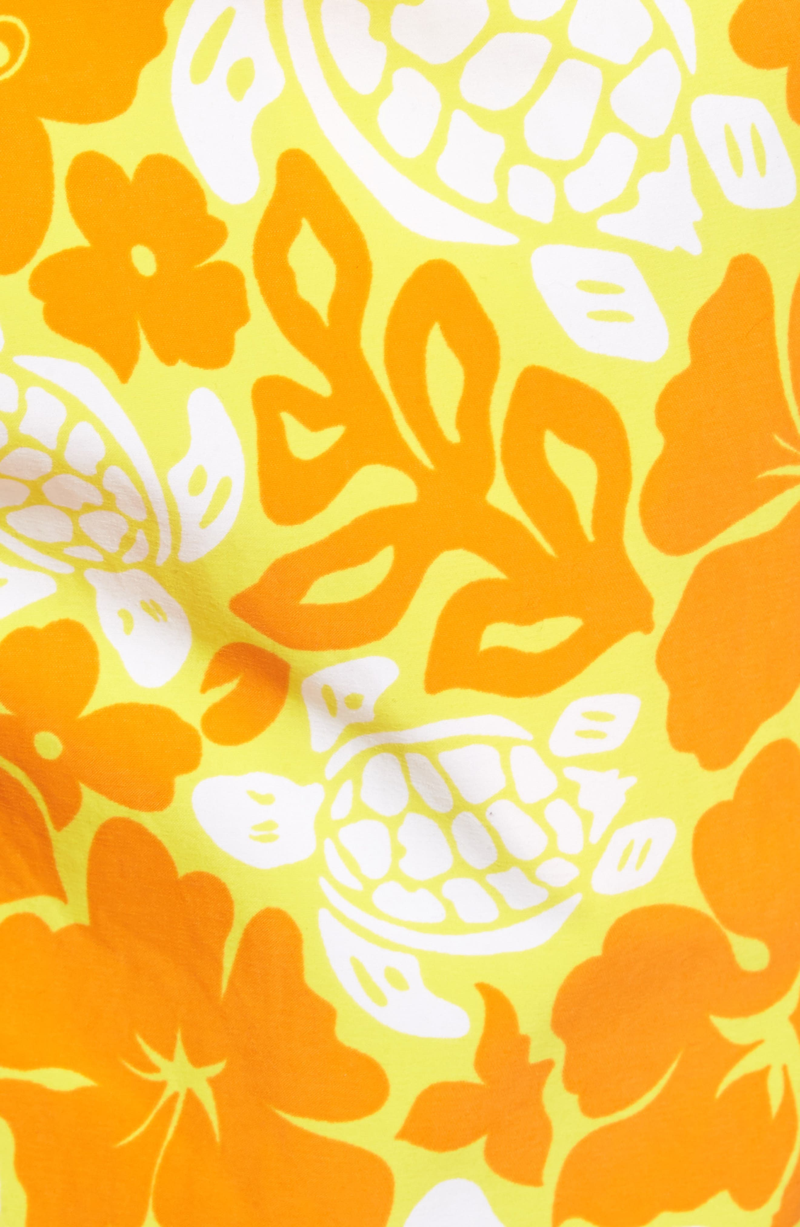 Moorea Hawaiian Turtles Swim Shorts,                             Alternate thumbnail 5, color,                             Lemon