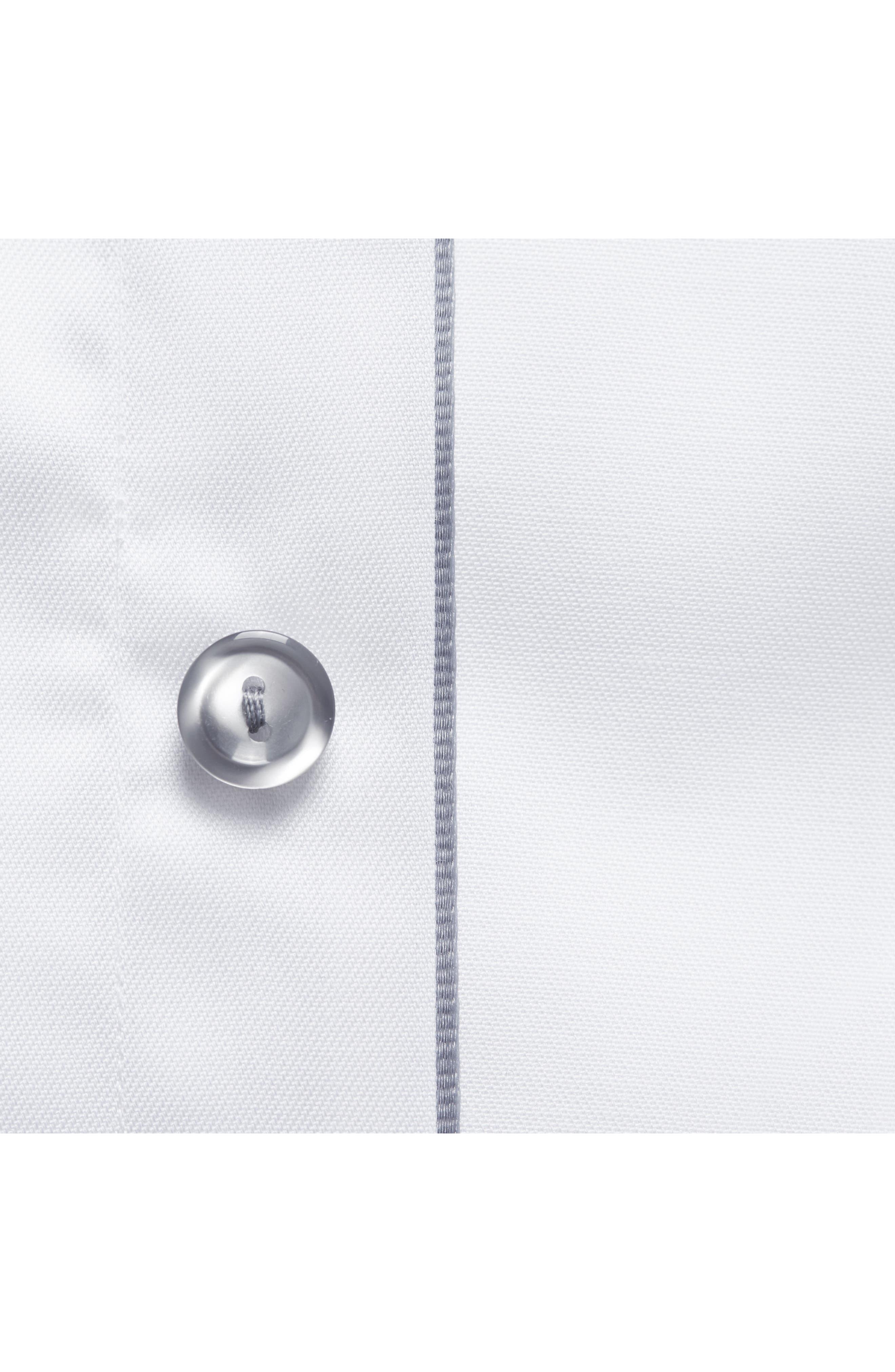 Alternate Image 4  - Eton Slim Fit Twill Dress Shirt with Grey Details