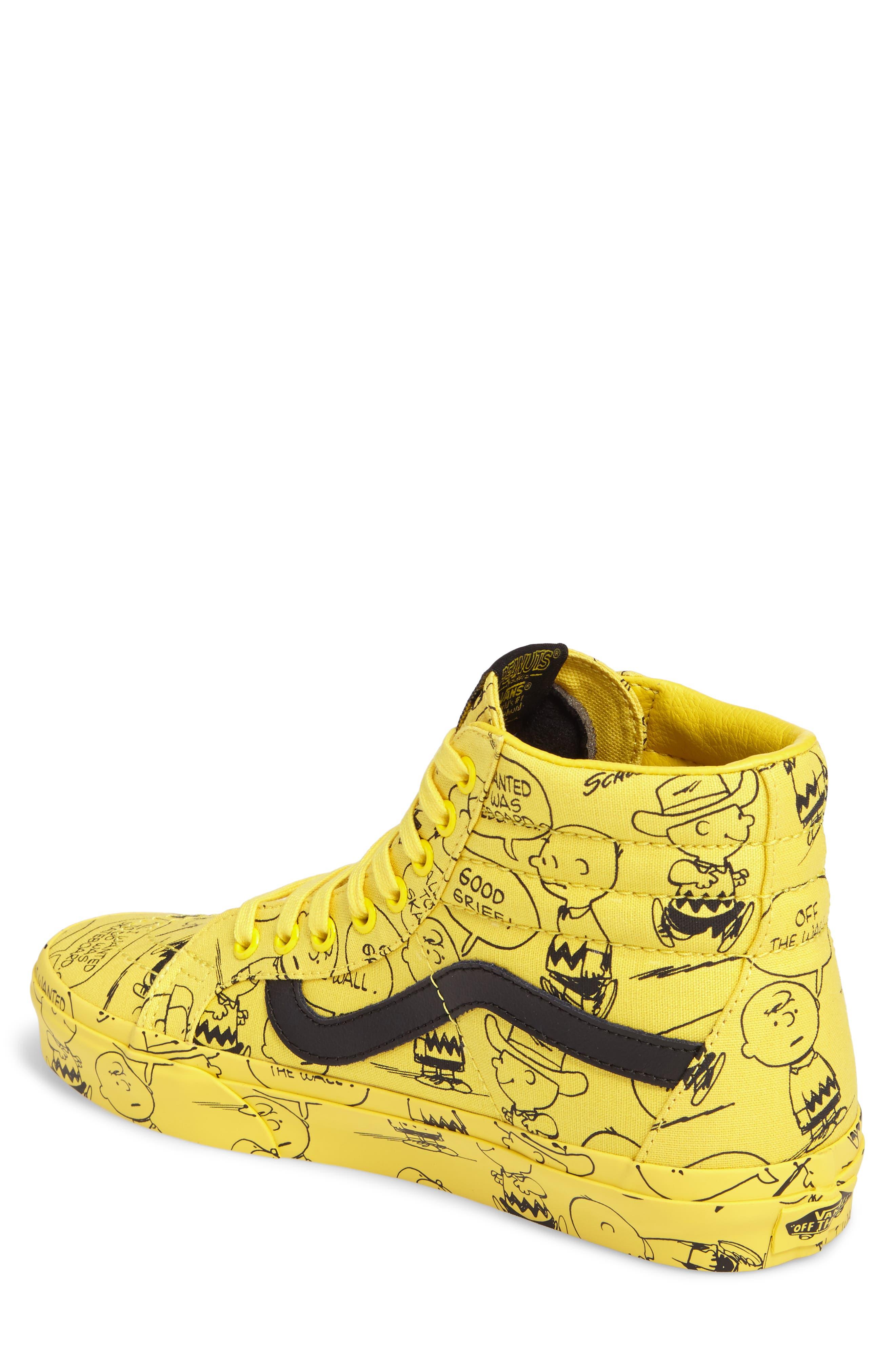 x Peanuts<sup>®</sup> Sk8-Hi Reissue Sneaker,                             Alternate thumbnail 2, color,                             Maize Canvas