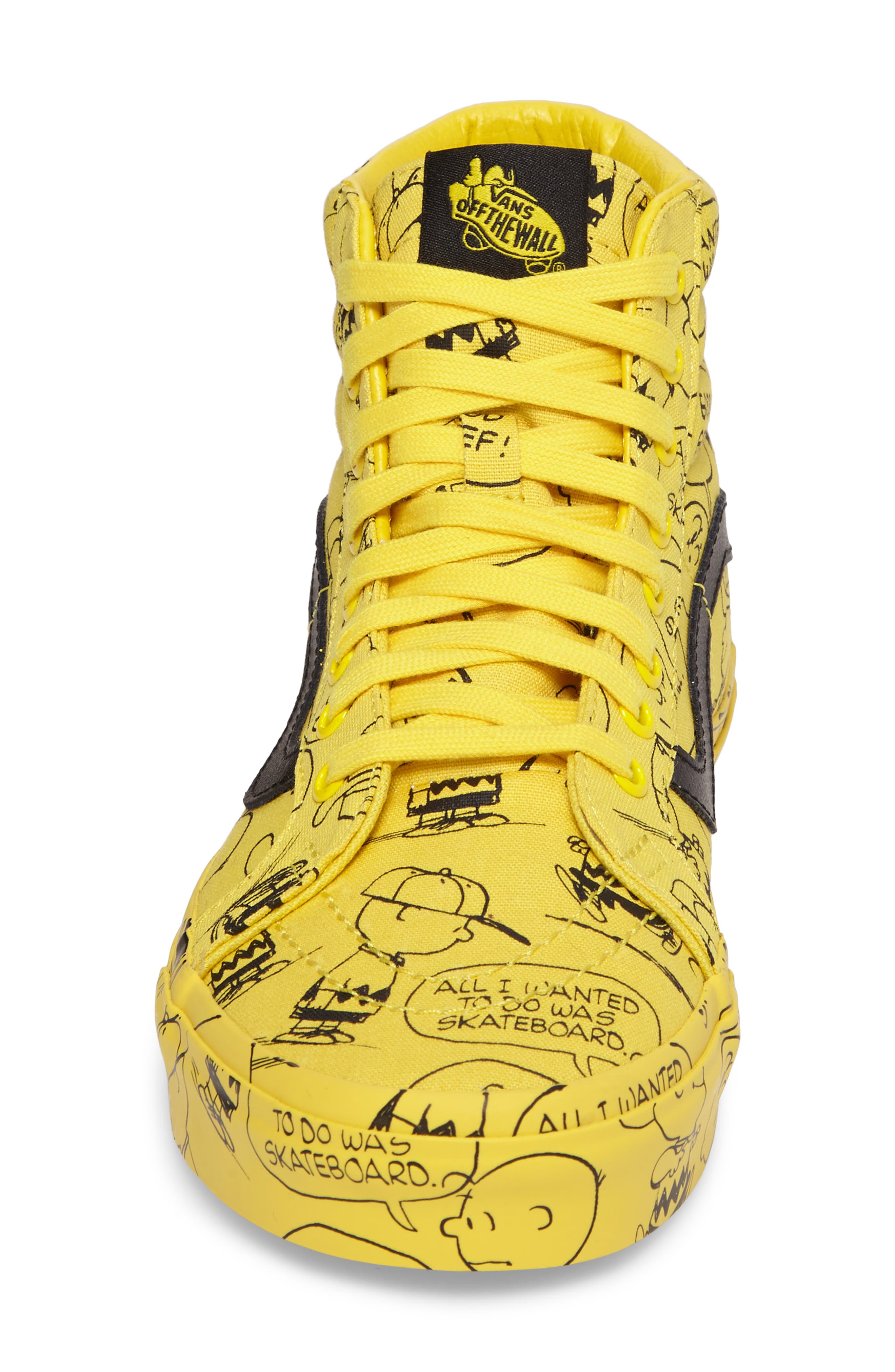 x Peanuts<sup>®</sup> Sk8-Hi Reissue Sneaker,                             Alternate thumbnail 4, color,                             Maize Canvas