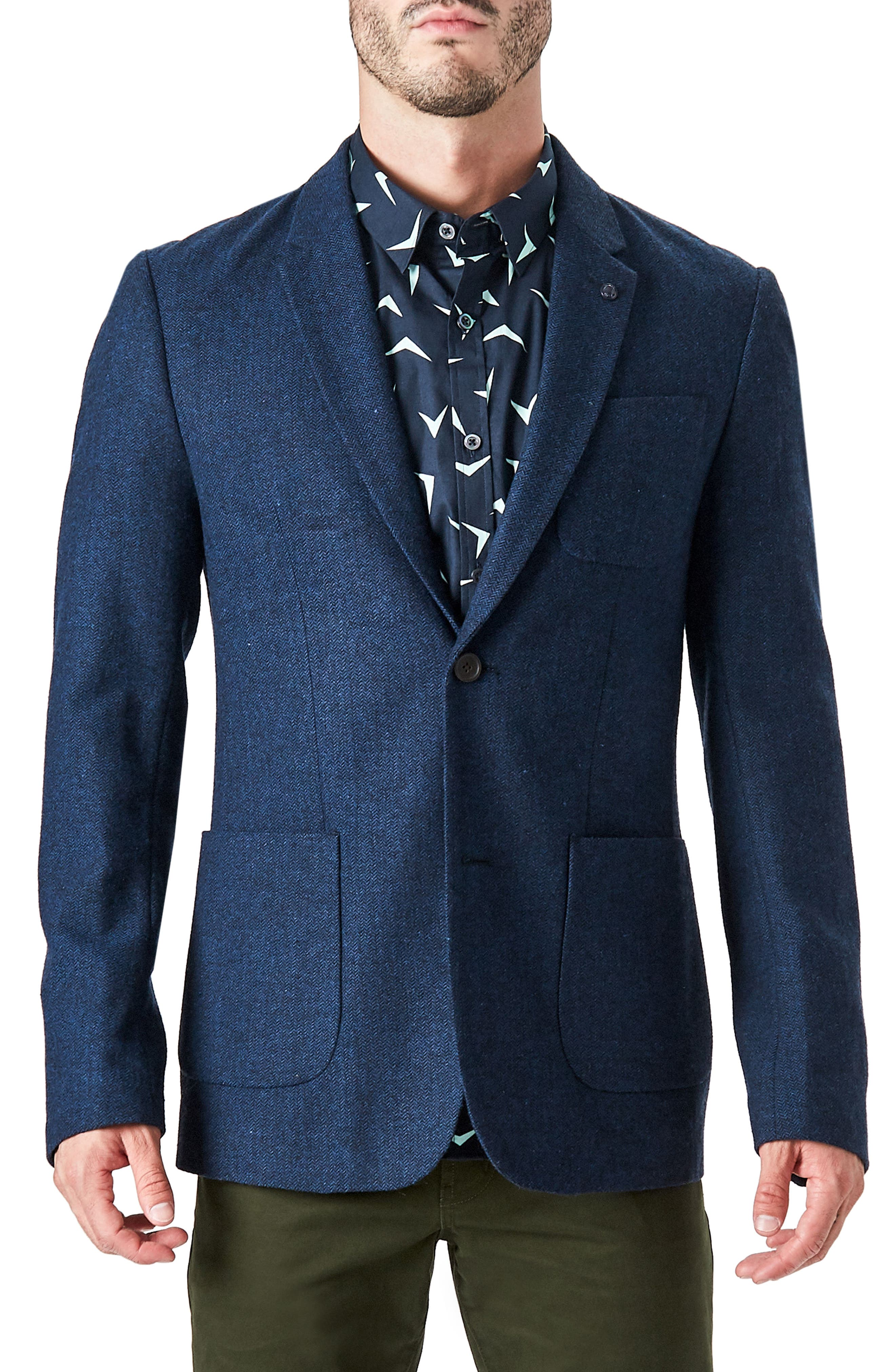 7 Diamonds Crotone Casual Blazer