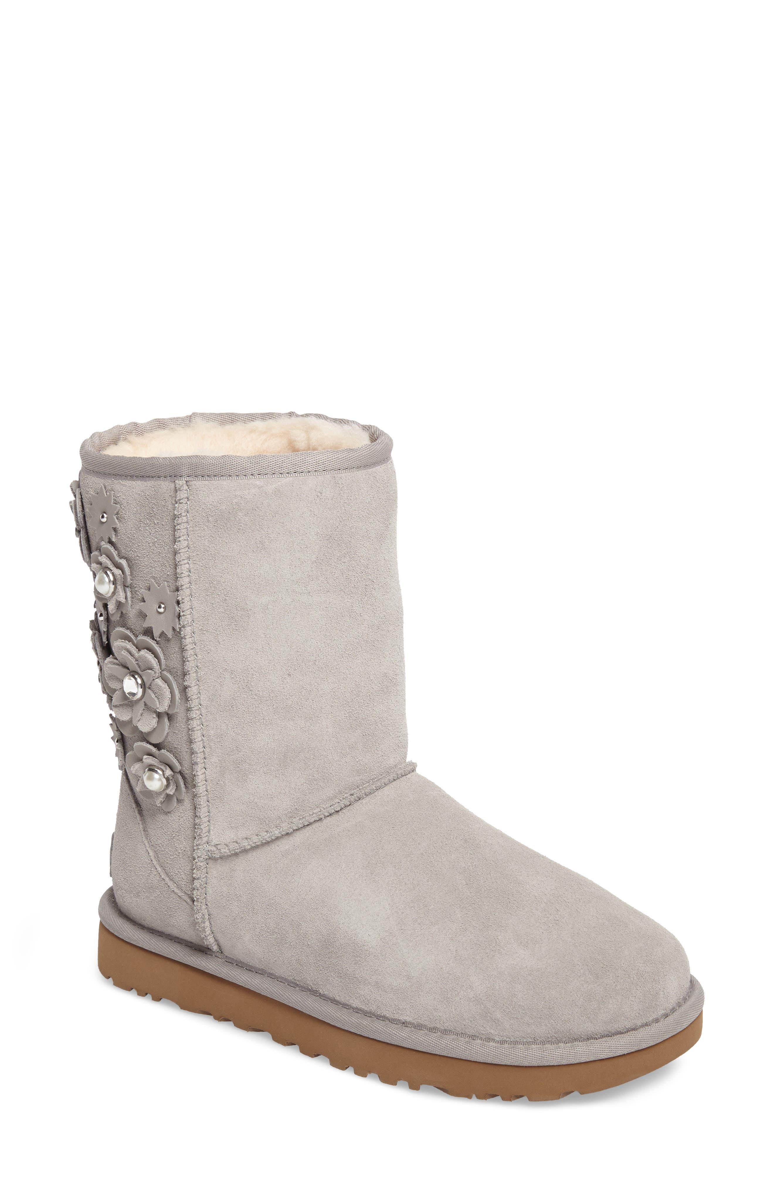 Alternate Image 1 Selected - UGG® Classic Short Petal Boot (Women)