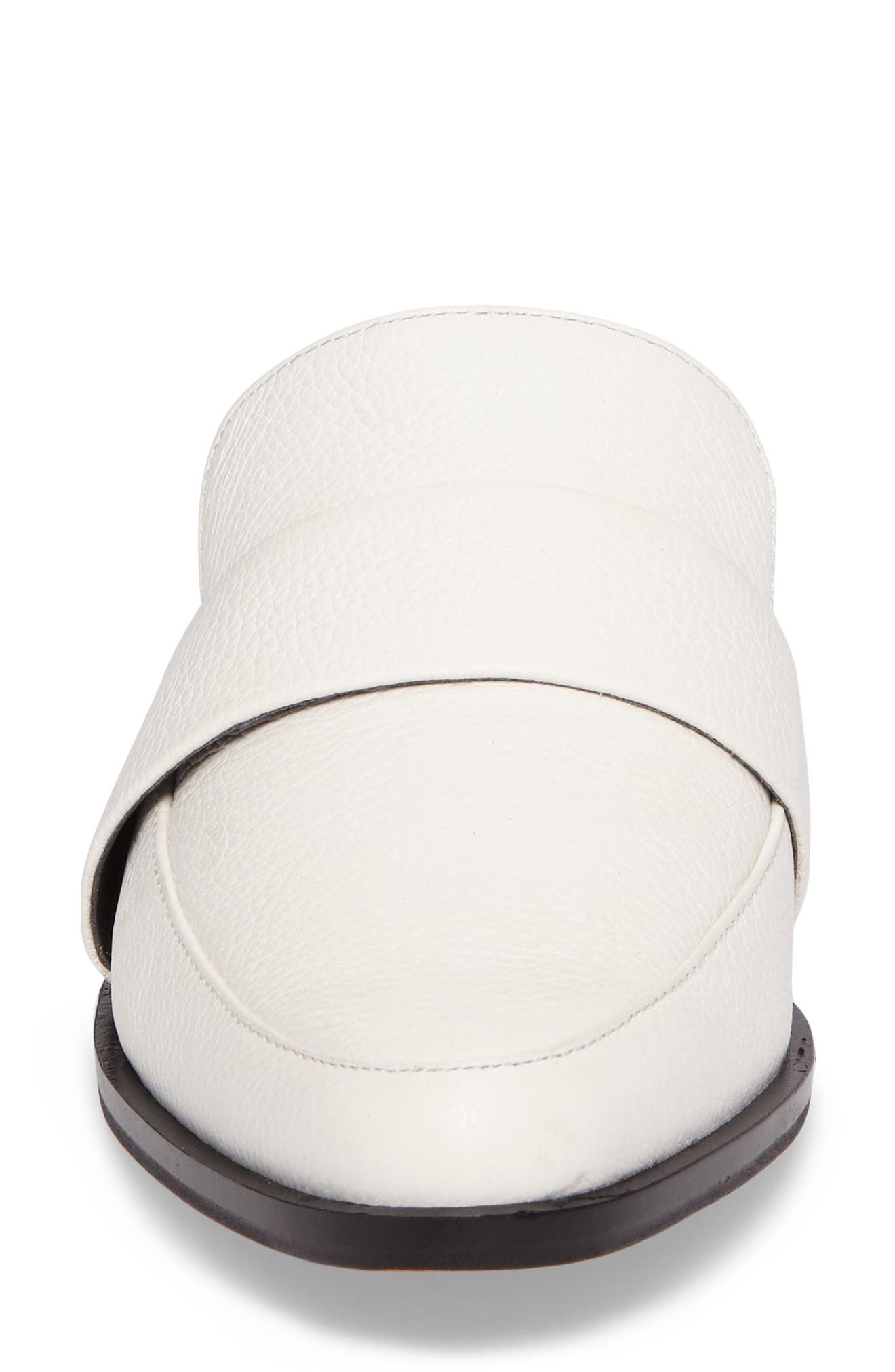 'Mika' Mule,                             Alternate thumbnail 5, color,                             White Leather