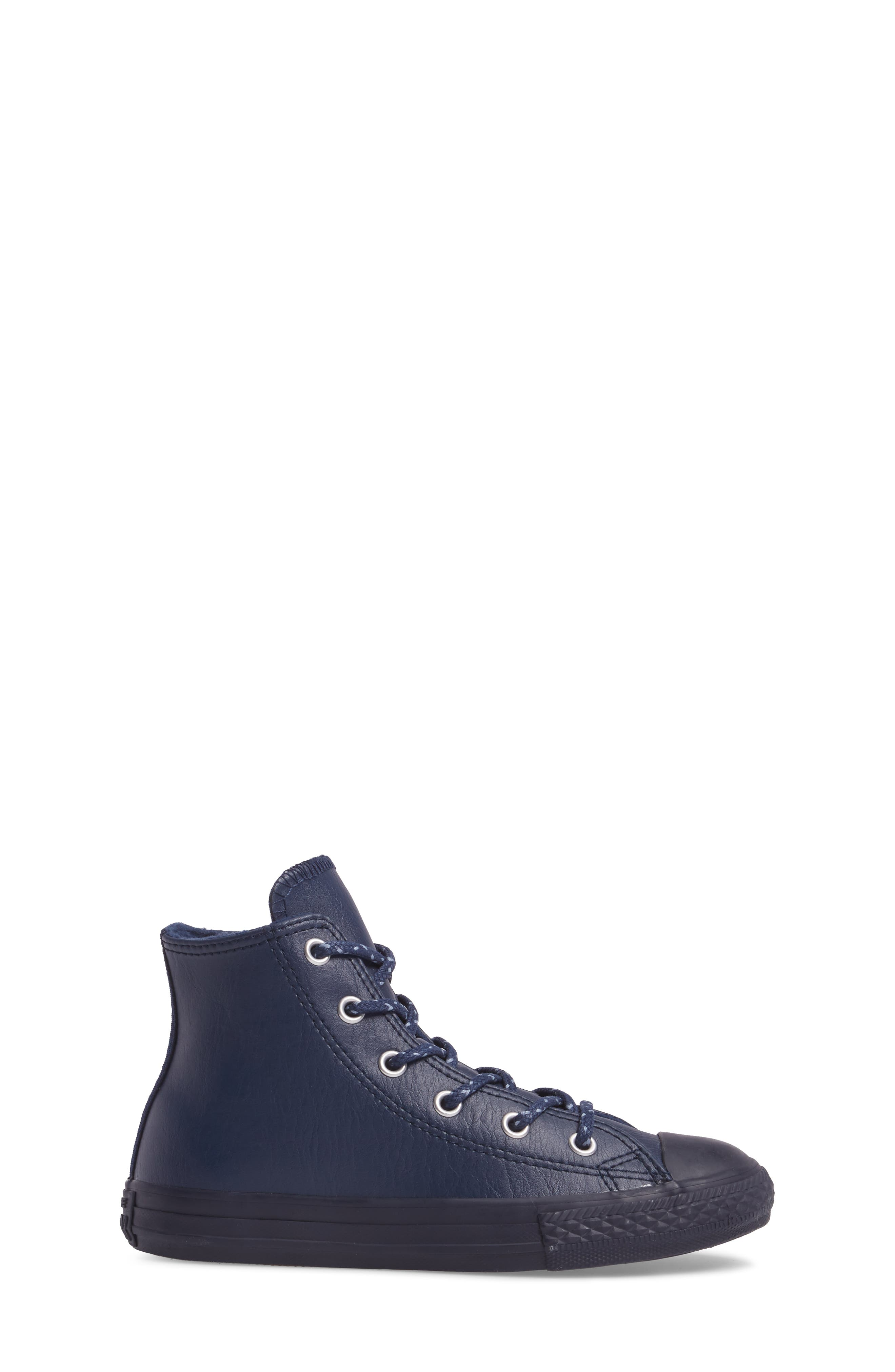 Alternate Image 3  - Converse Chuck Taylor® All Star® Leather High Top Sneaker (Toddler & Little Kid)