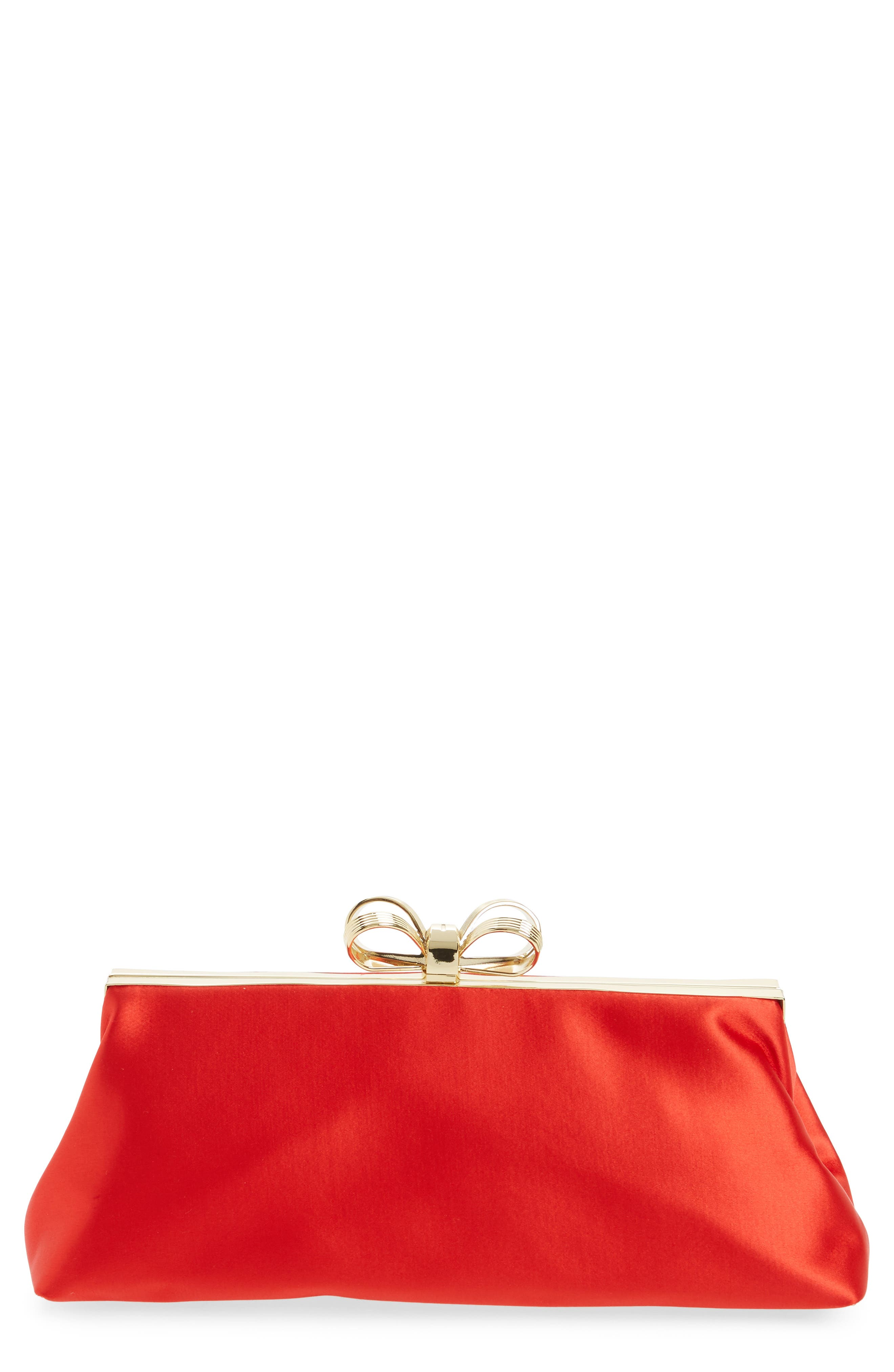 Main Image - Ted Baker London Small Coletta Bow Satin Clutch
