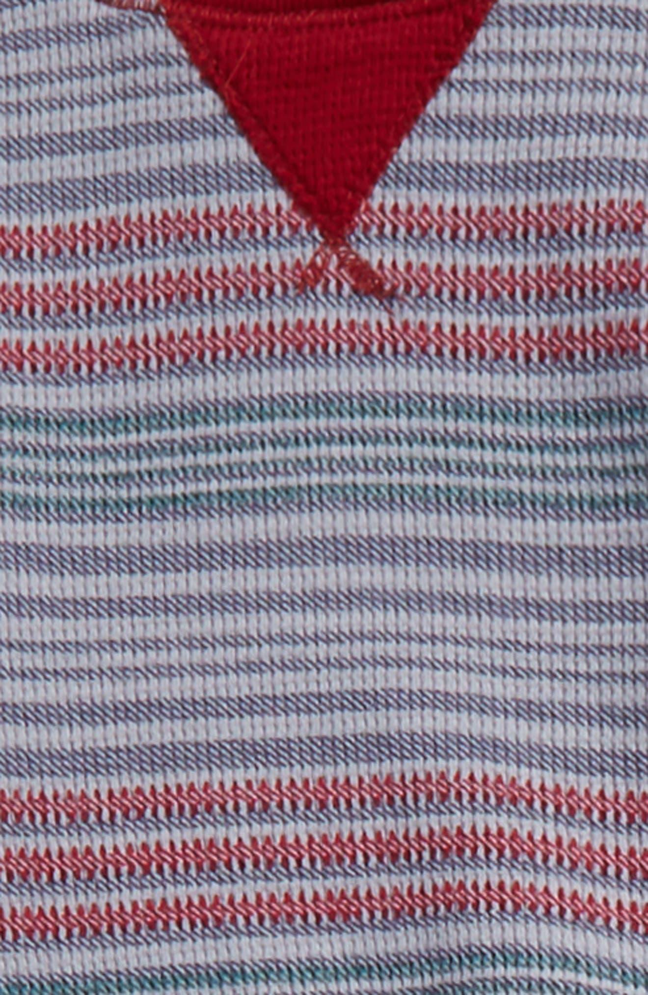Stripe Thermal T-Shirt & Sweatpants Set,                             Alternate thumbnail 3, color,                             Burgundy