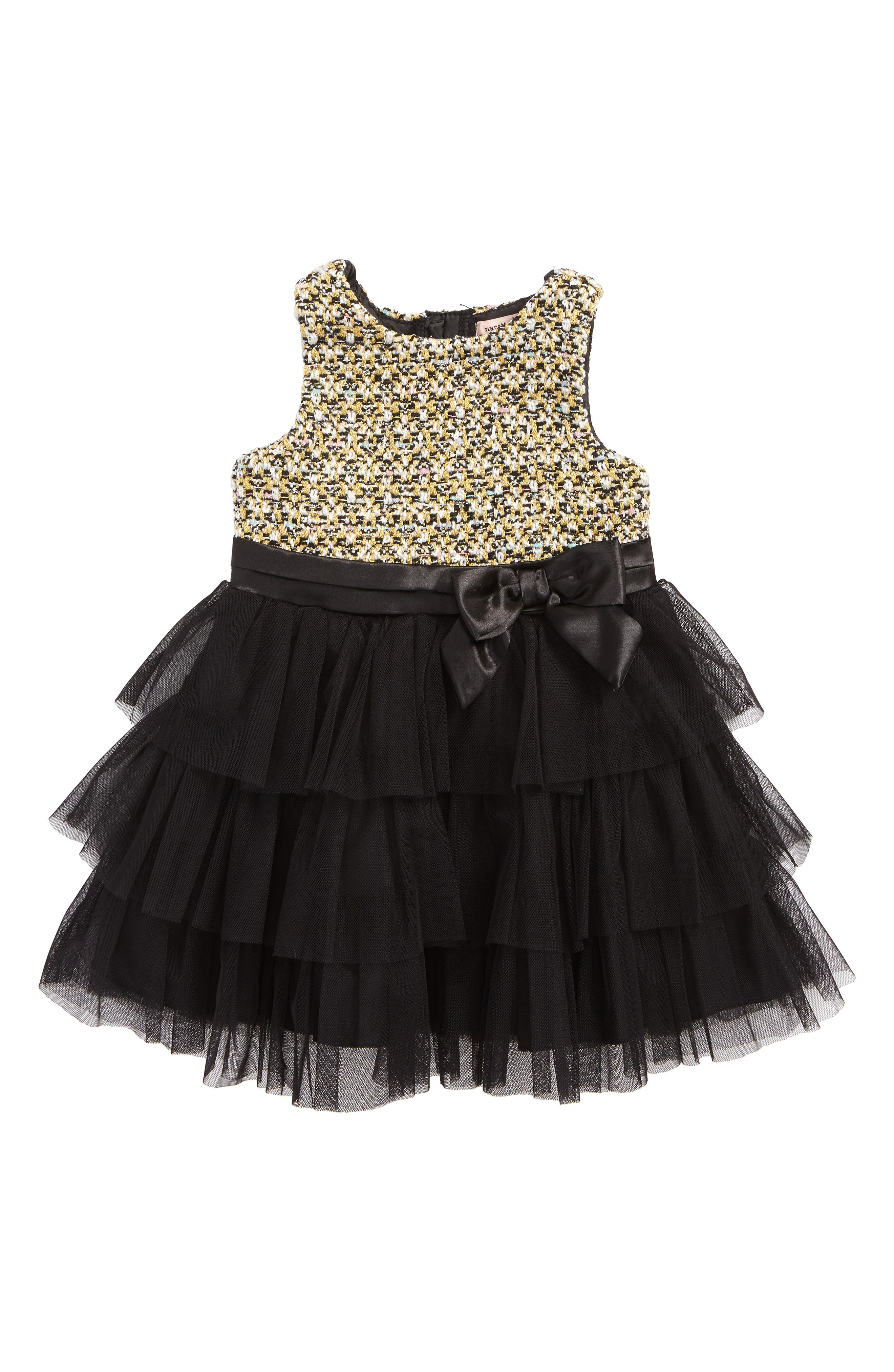 Tulle Dress,                         Main,                         color, Black