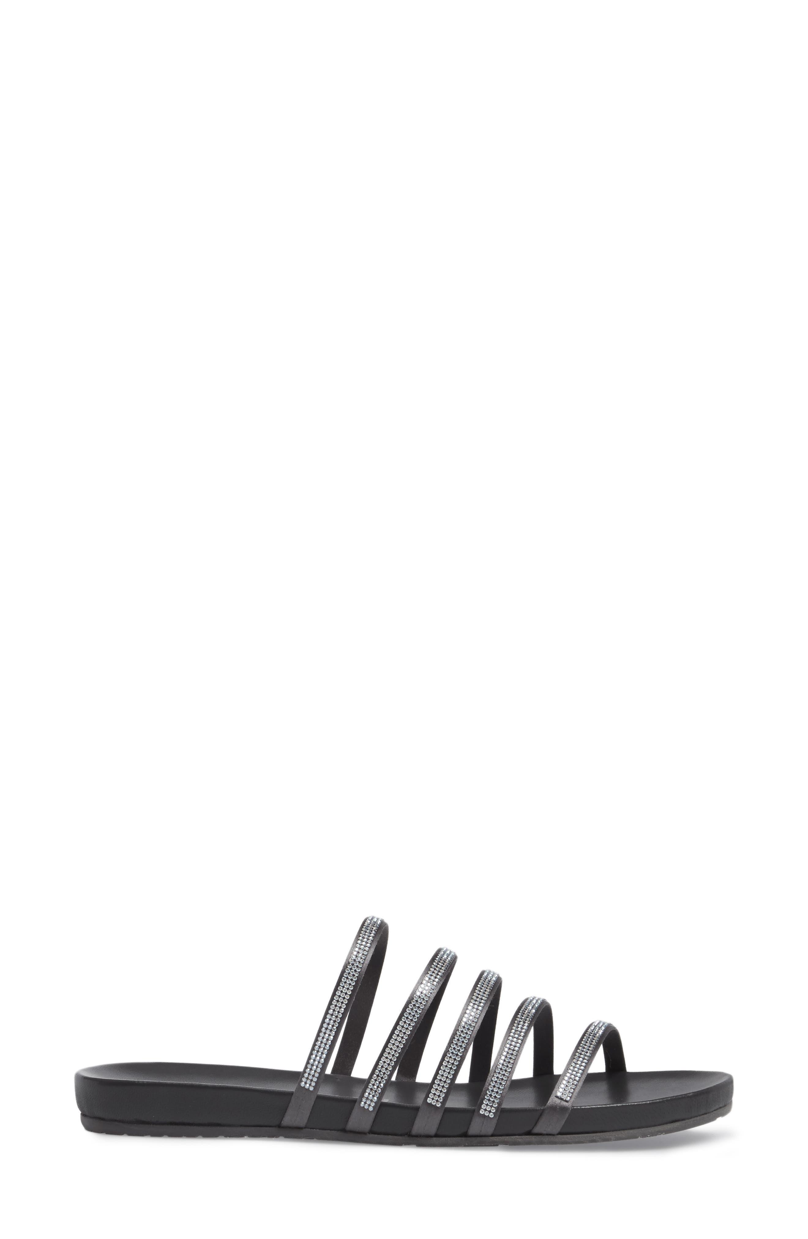 Gala Slide Sandal,                             Alternate thumbnail 3, color,                             Fox Satin