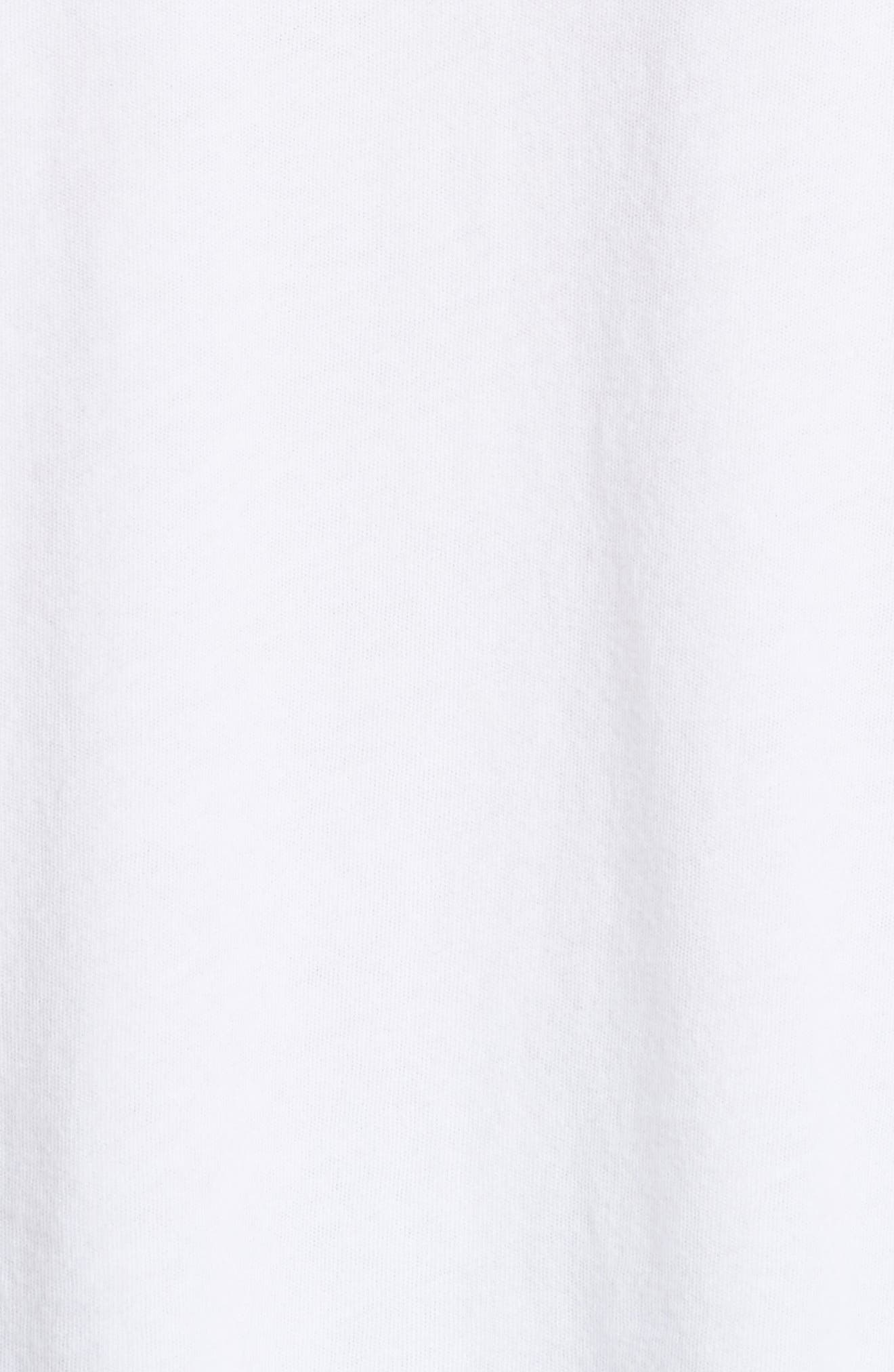 The Ruffle Yoke Tee,                             Alternate thumbnail 5, color,                             True White