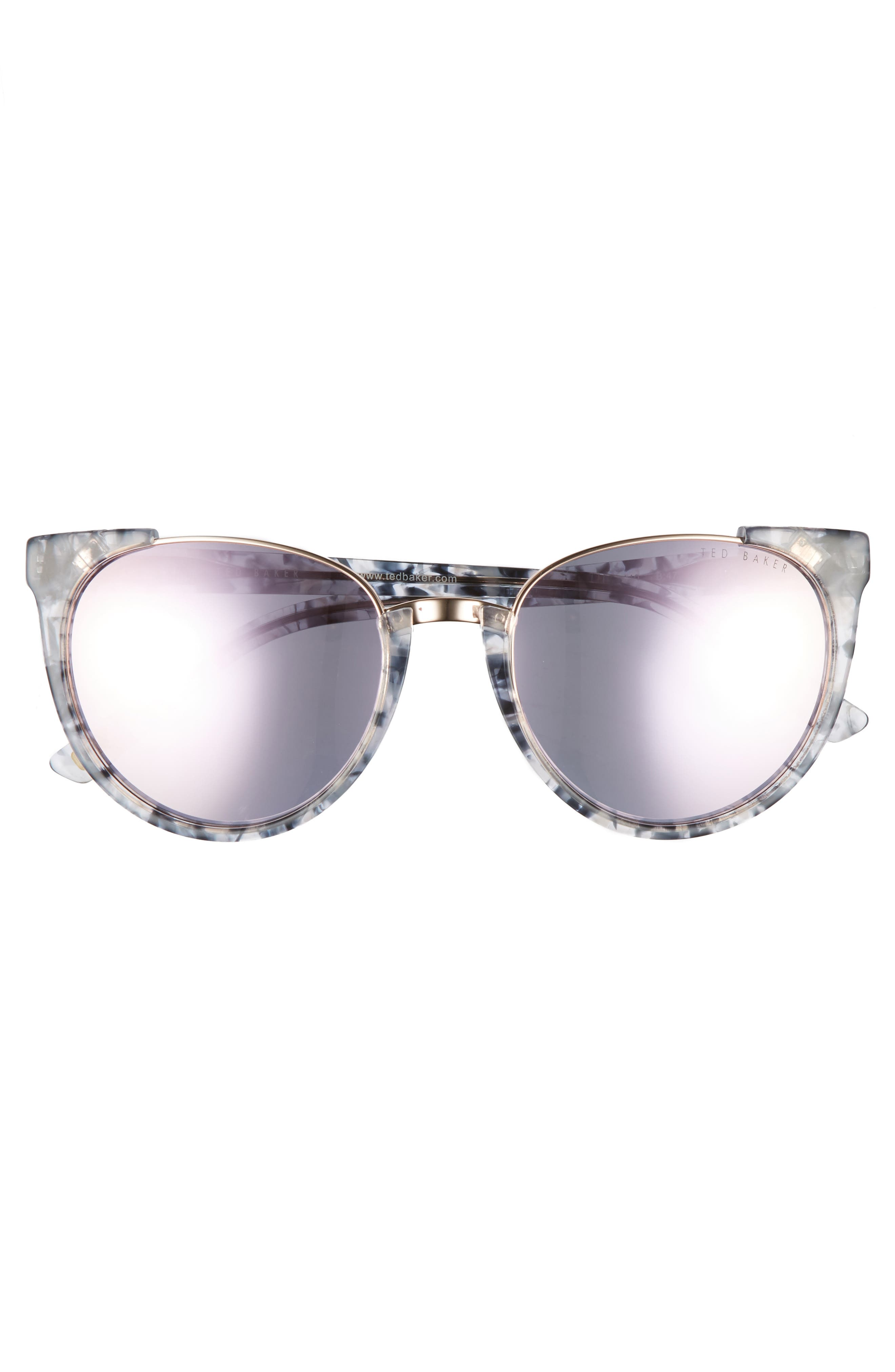 53mm Modified Oval Sunglasses,                             Alternate thumbnail 3, color,                             Blue