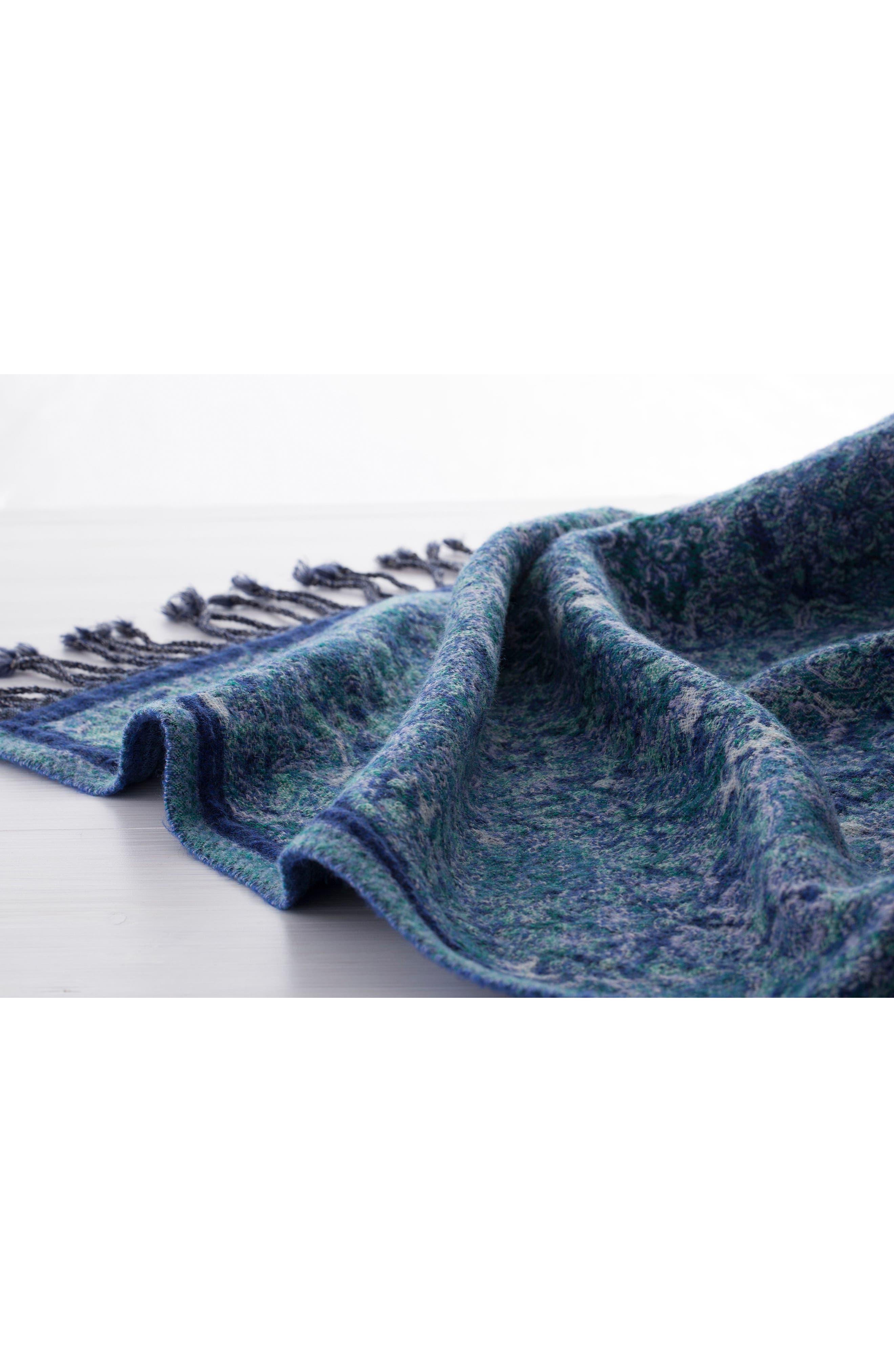 Alternate Image 3  - Modern Staples Flower Double Face Merino Wool Throw