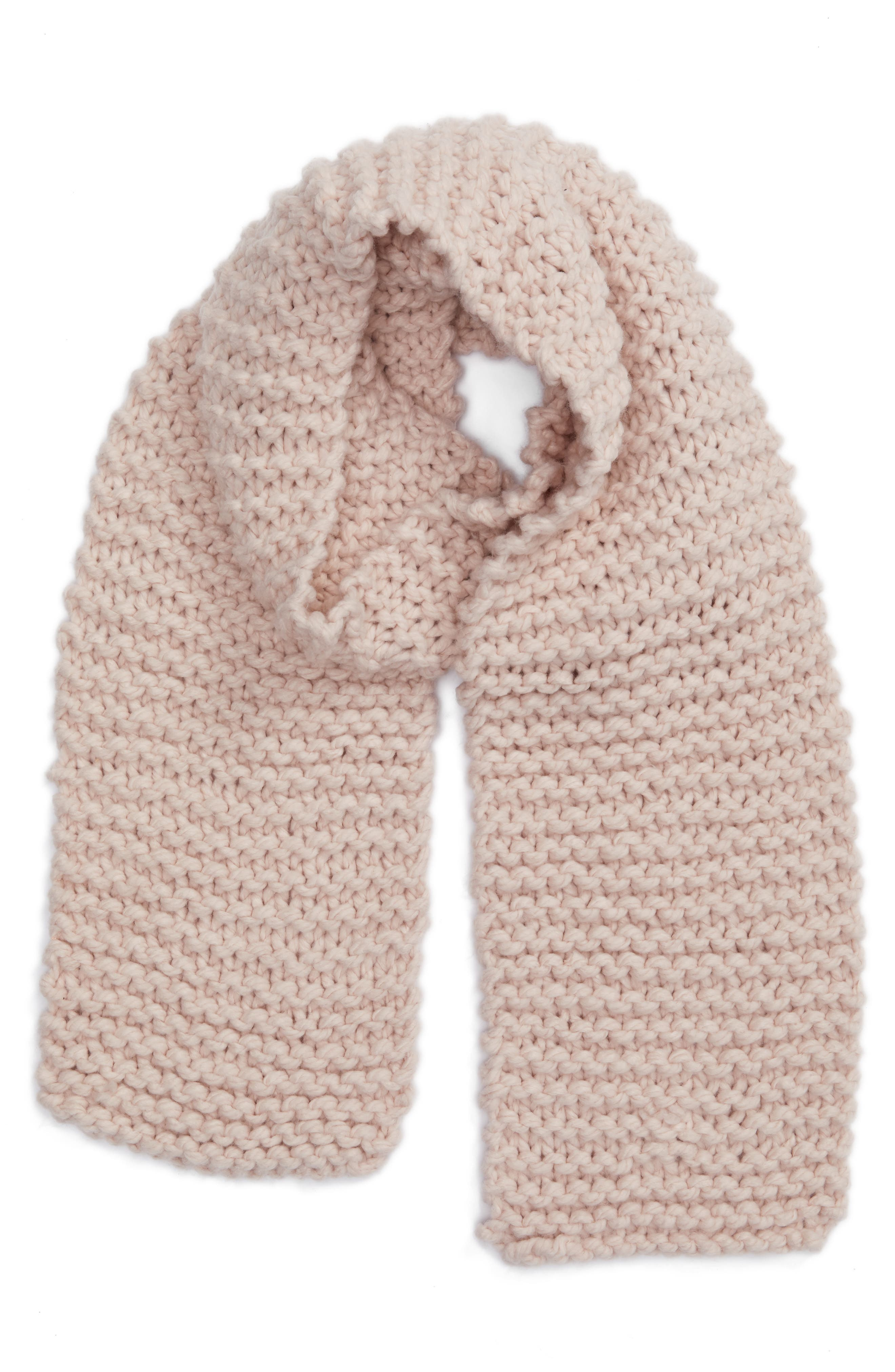 Chunky Knit Oversize Scarf,                             Alternate thumbnail 2, color,                             Blush