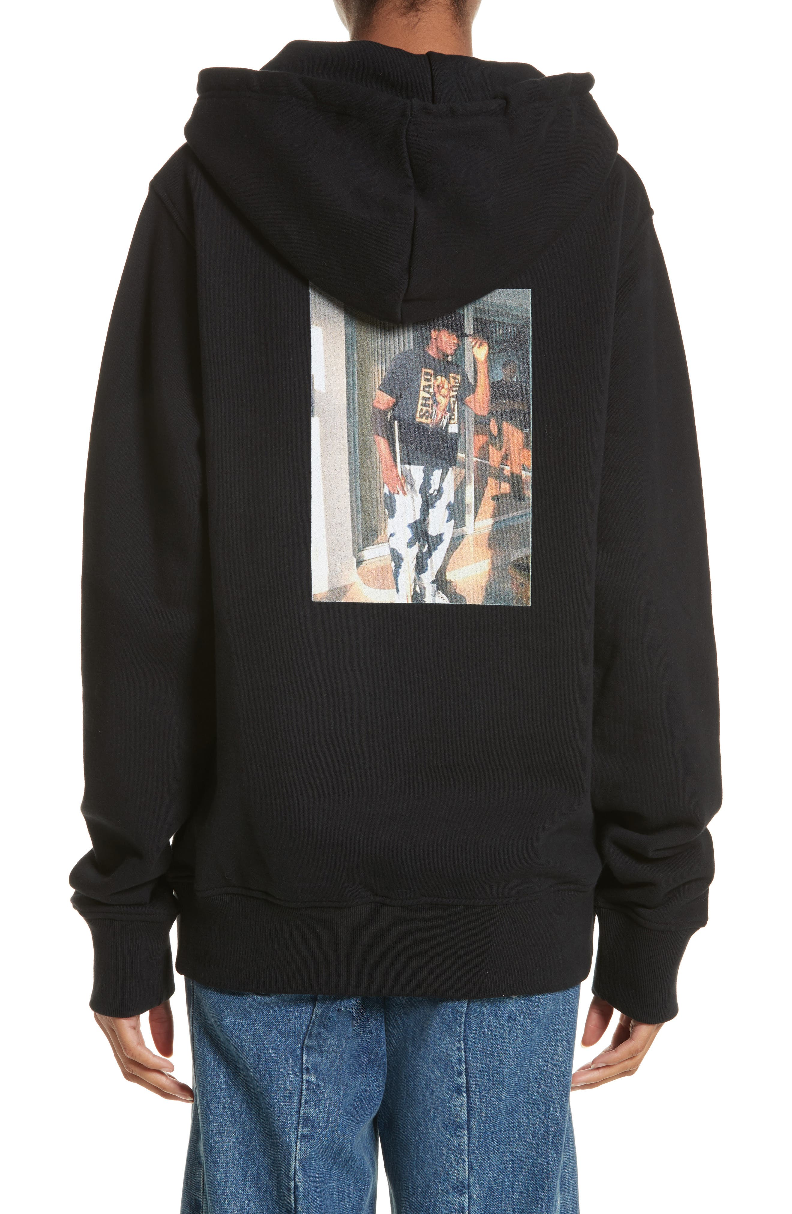 Classic Pullover Hoodie,                             Alternate thumbnail 2, color,                             Black