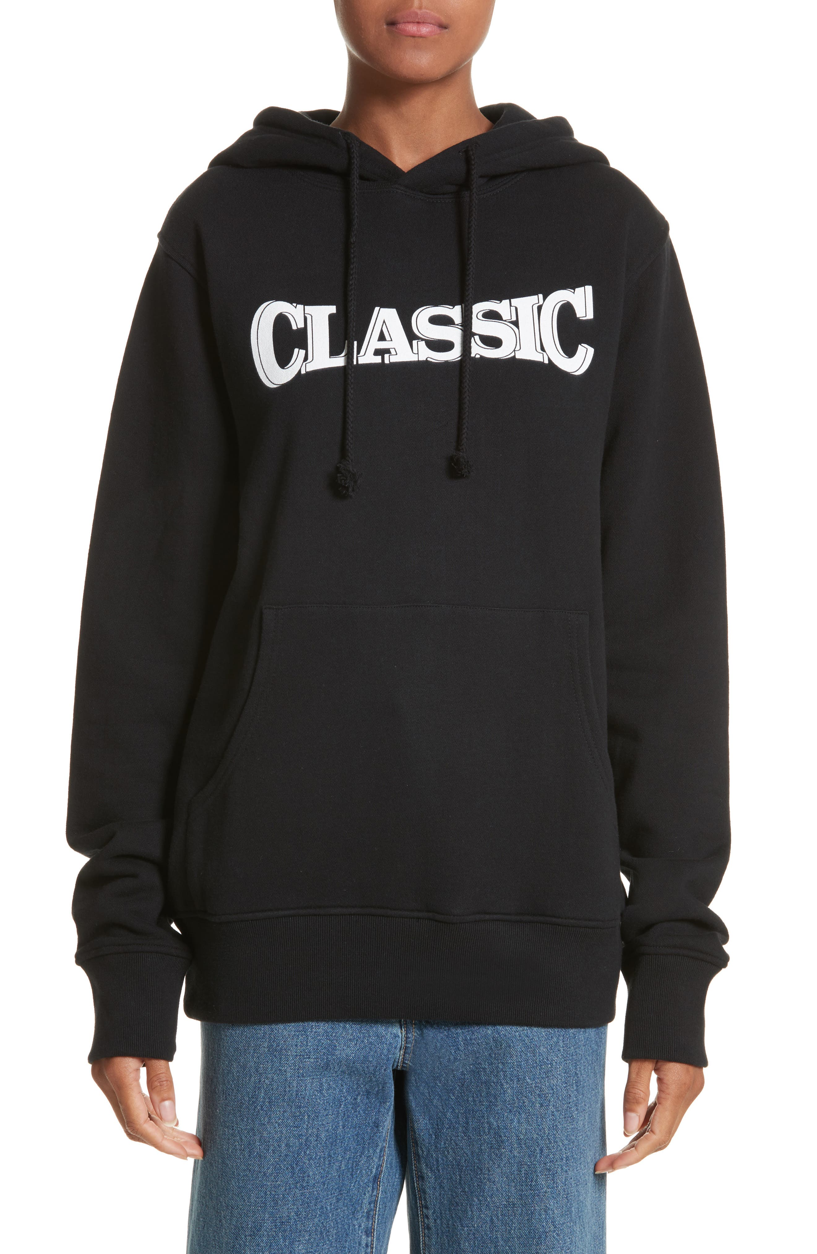 Classic Pullover Hoodie,                         Main,                         color, Black