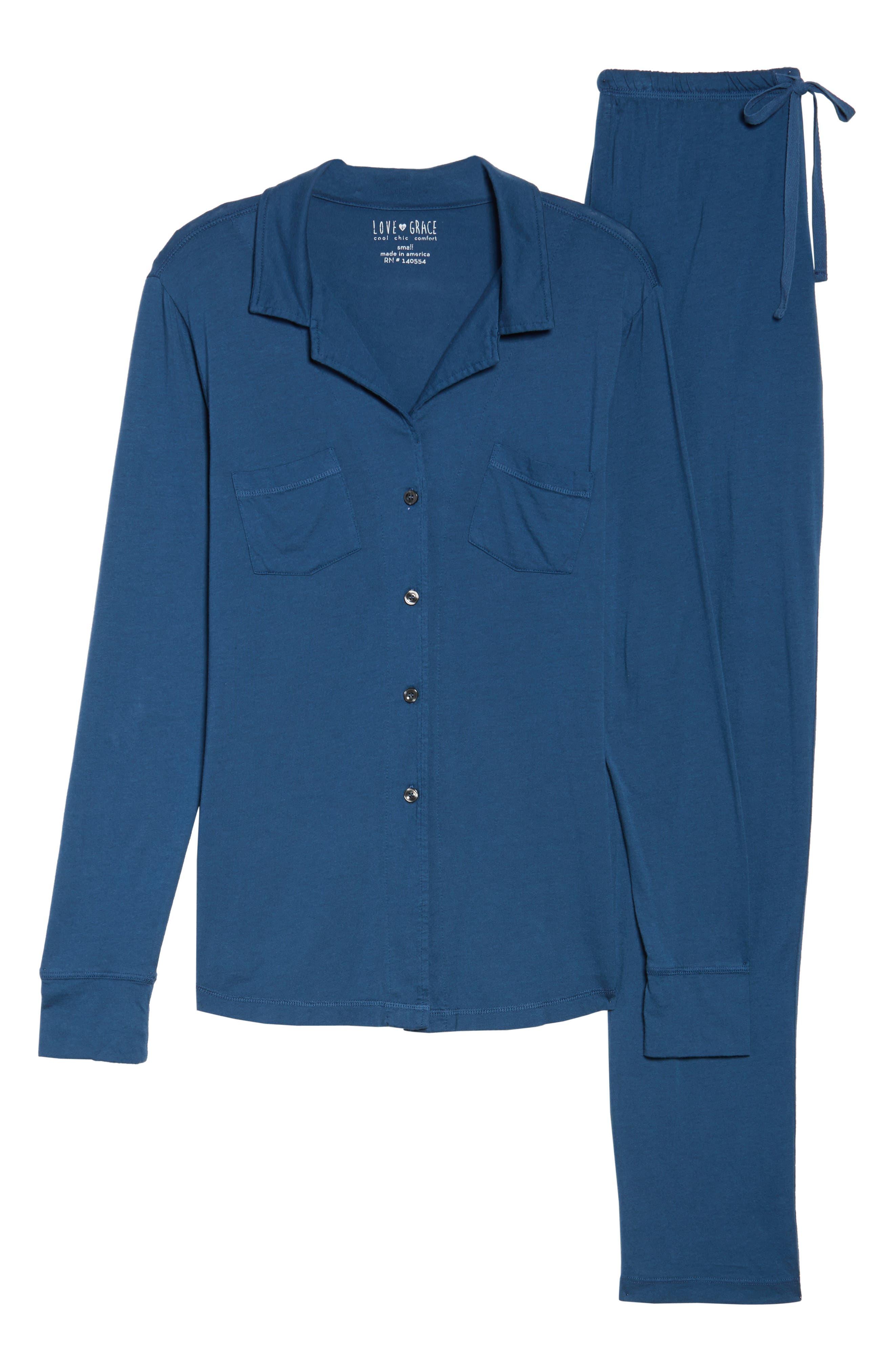 Alternate Image 4  - LOVE+GRACE 'Cassie' Cotton & Modal Pajamas