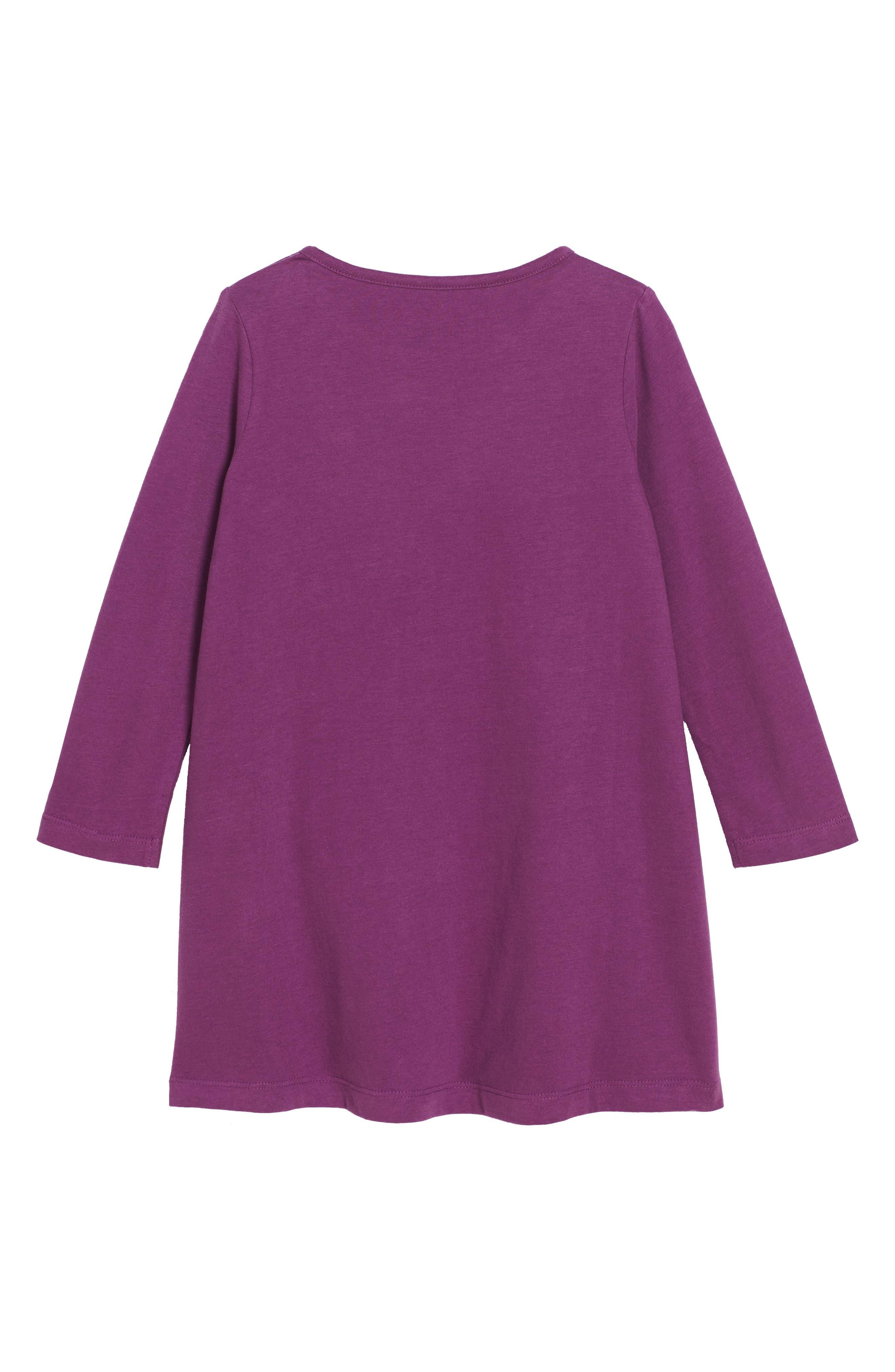 Fairytale Appliqué Dress,                             Alternate thumbnail 2, color,                             Blackcurrant Purple Horses Prp